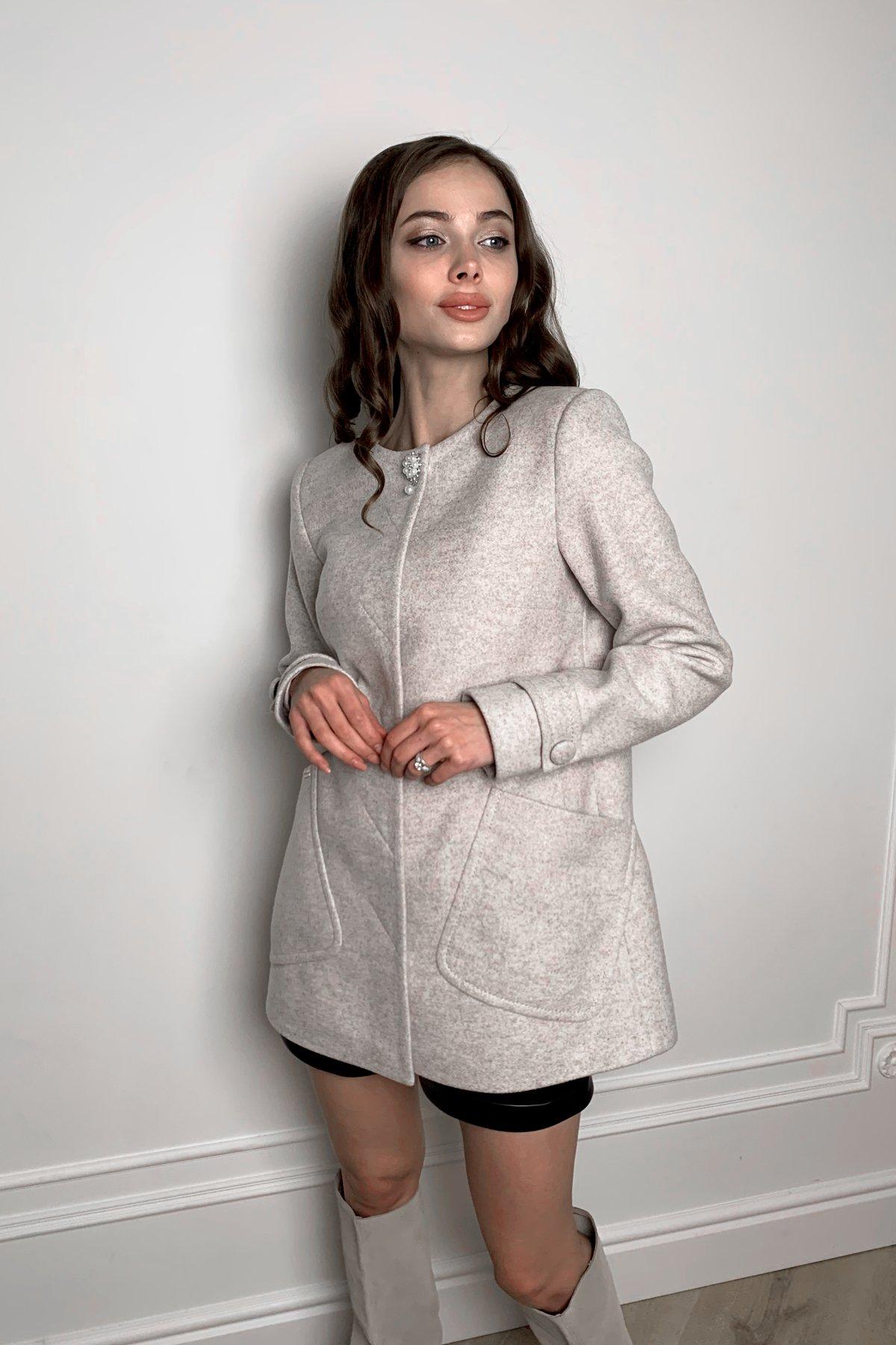 Пальто стеганное демисезонное женское цена от Modus Пальто Латте 5636