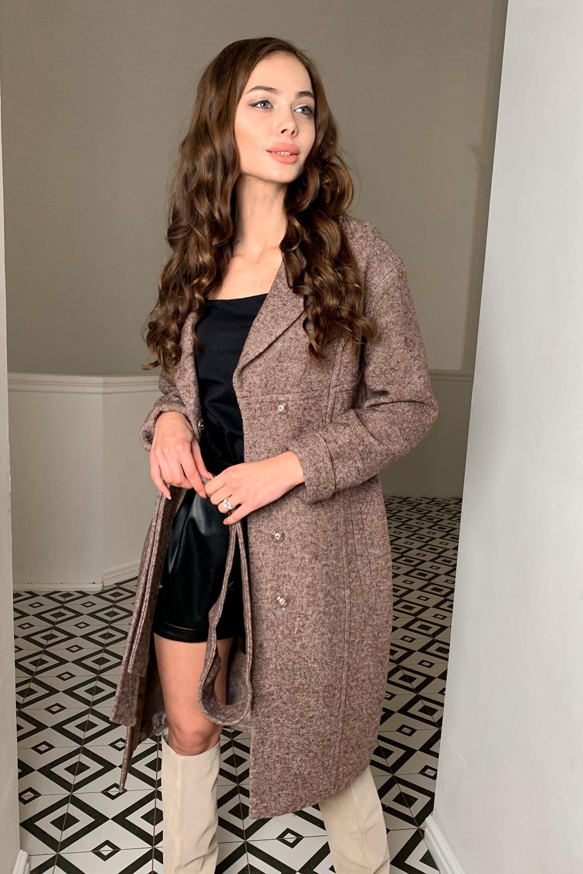 Пальто весна-осень c приспущенной линией плеча Фентези лайт 6365 Цвет: Кофе LW-4