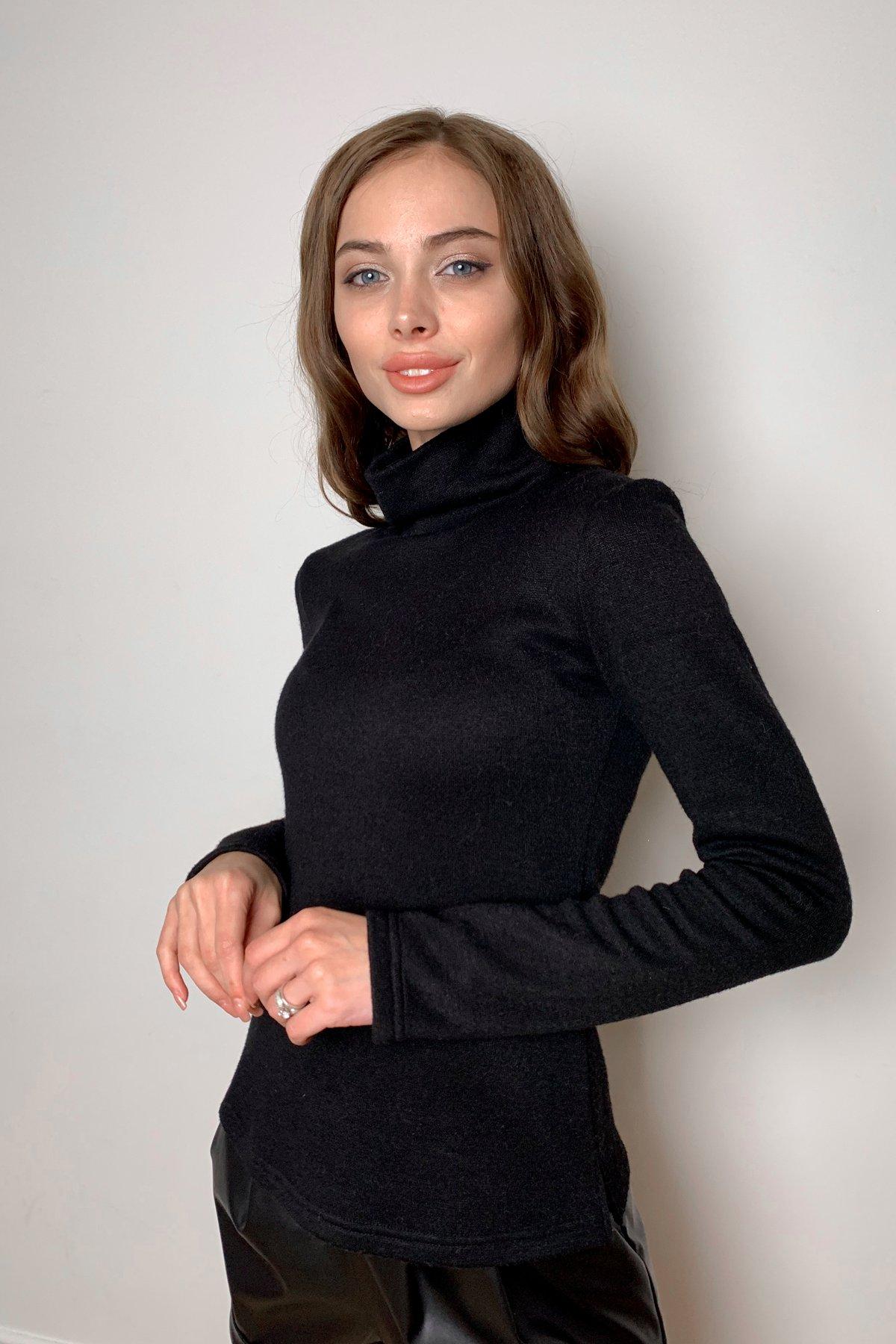 Лимбо трикотаж ангора гольф 10188 АРТ. 46481 Цвет: Черный - фото 1, интернет магазин tm-modus.ru