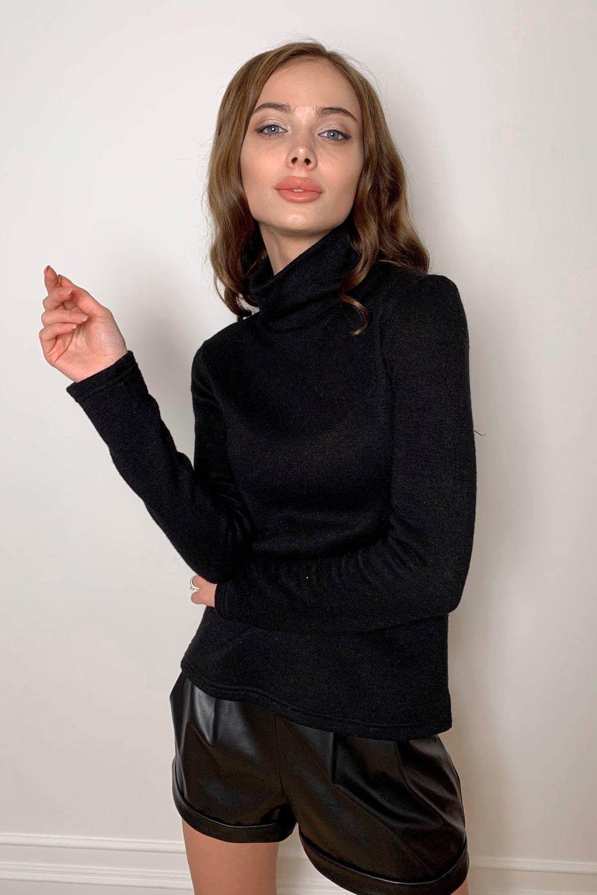 Лимбо трикотаж ангора гольф 10188 АРТ. 46481 Цвет: Черный - фото 4, интернет магазин tm-modus.ru