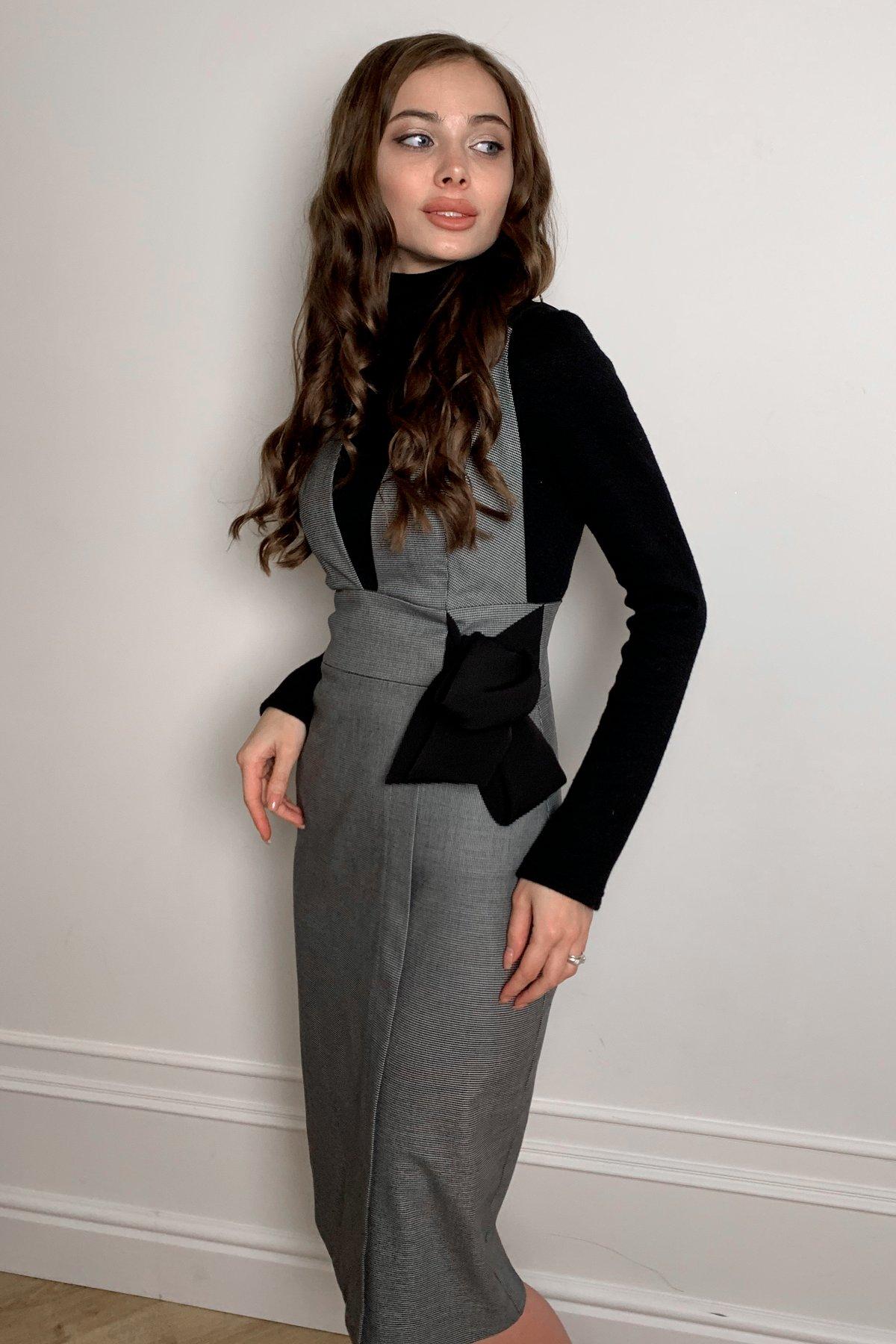 Фила платье костюмка принт стрейч платье 10026 АРТ. 46321 Цвет: Клетка мел черн/бел - фото 5, интернет магазин tm-modus.ru