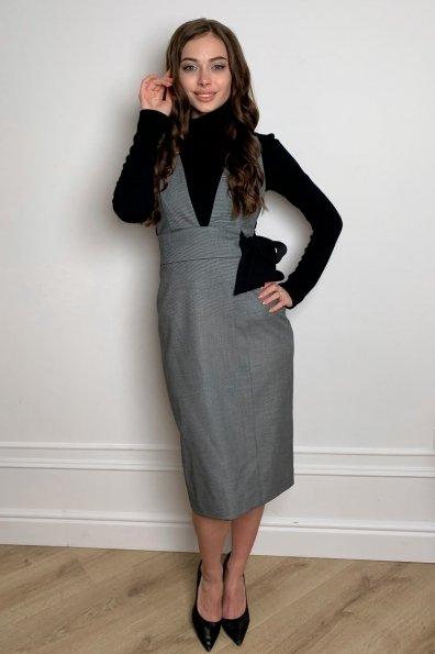 Купить Фила платье костюмка принт стрейч платье 10026 оптом и в розницу