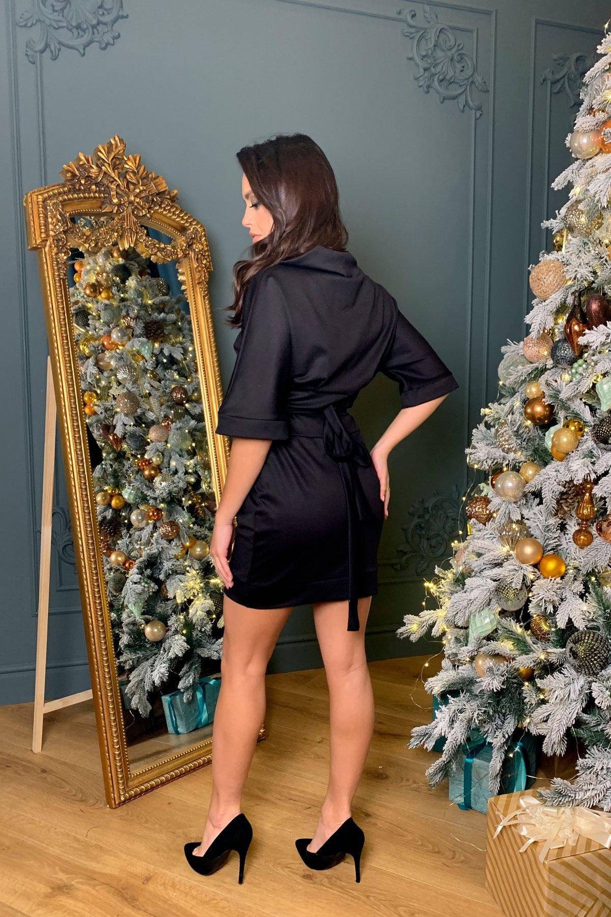 Трикотажное платье Вассаби 8478 АРТ. 44905 Цвет: Черный - фото 3, интернет магазин tm-modus.ru
