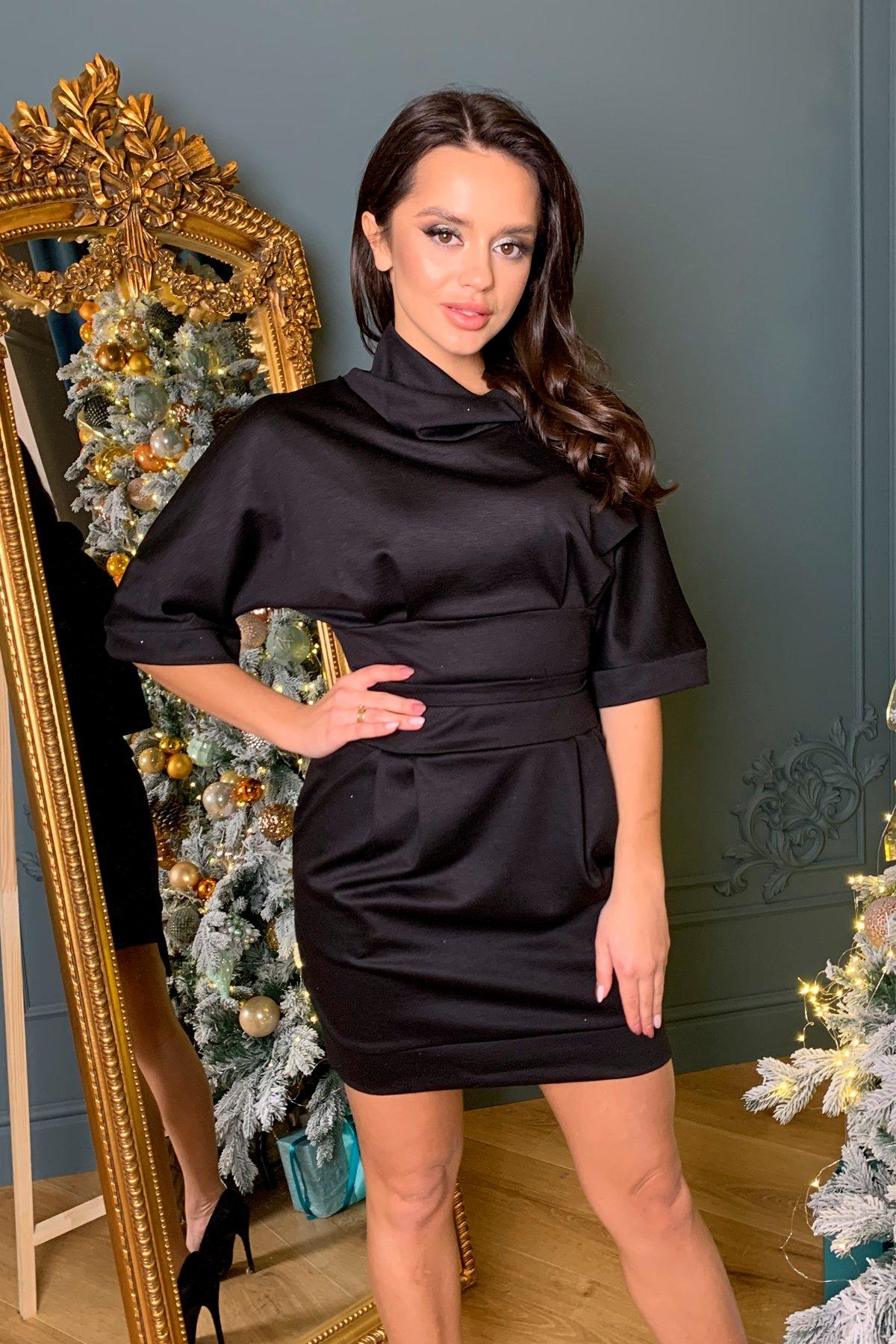 Трикотажное платье Вассаби 8478 АРТ. 44905 Цвет: Черный - фото 5, интернет магазин tm-modus.ru