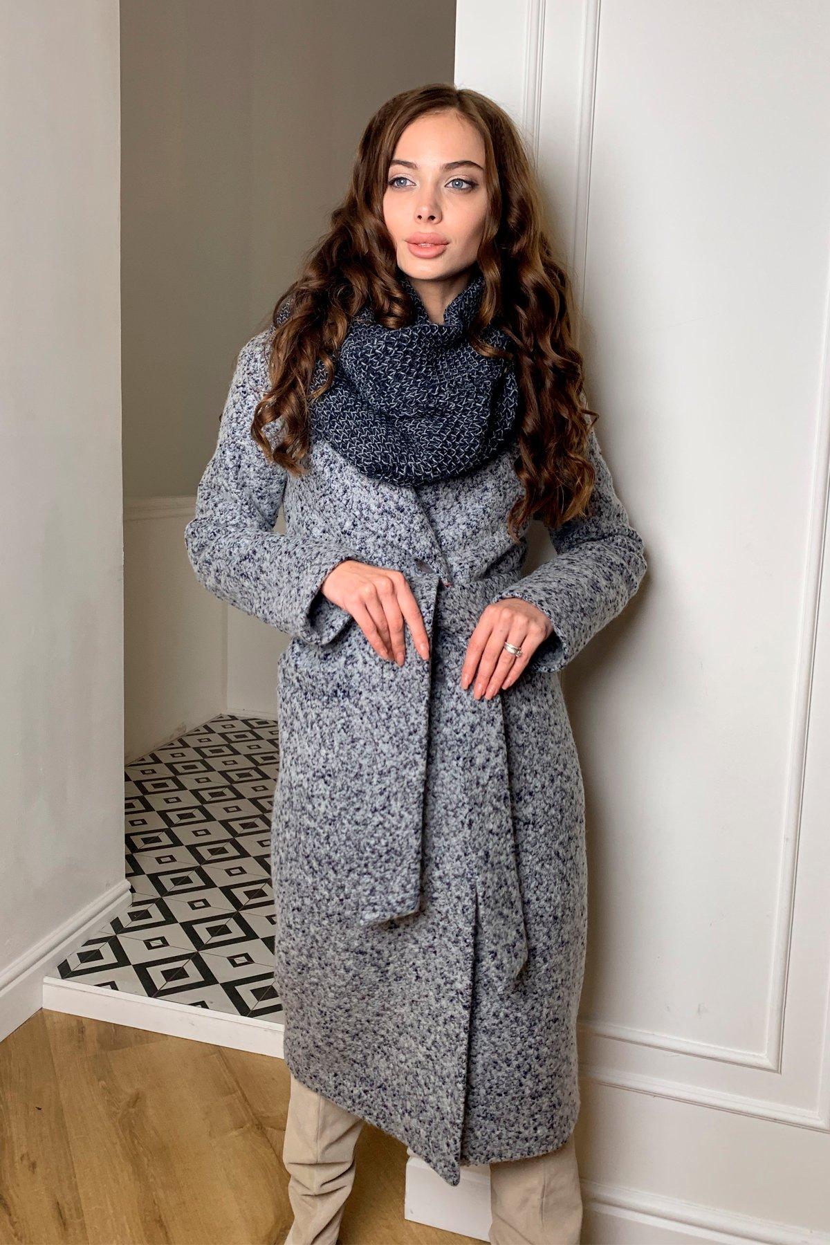 Зимние пальто в Украине интернет магазин Теплое зимнее пальто буклированная шерсть Вива макси 8349