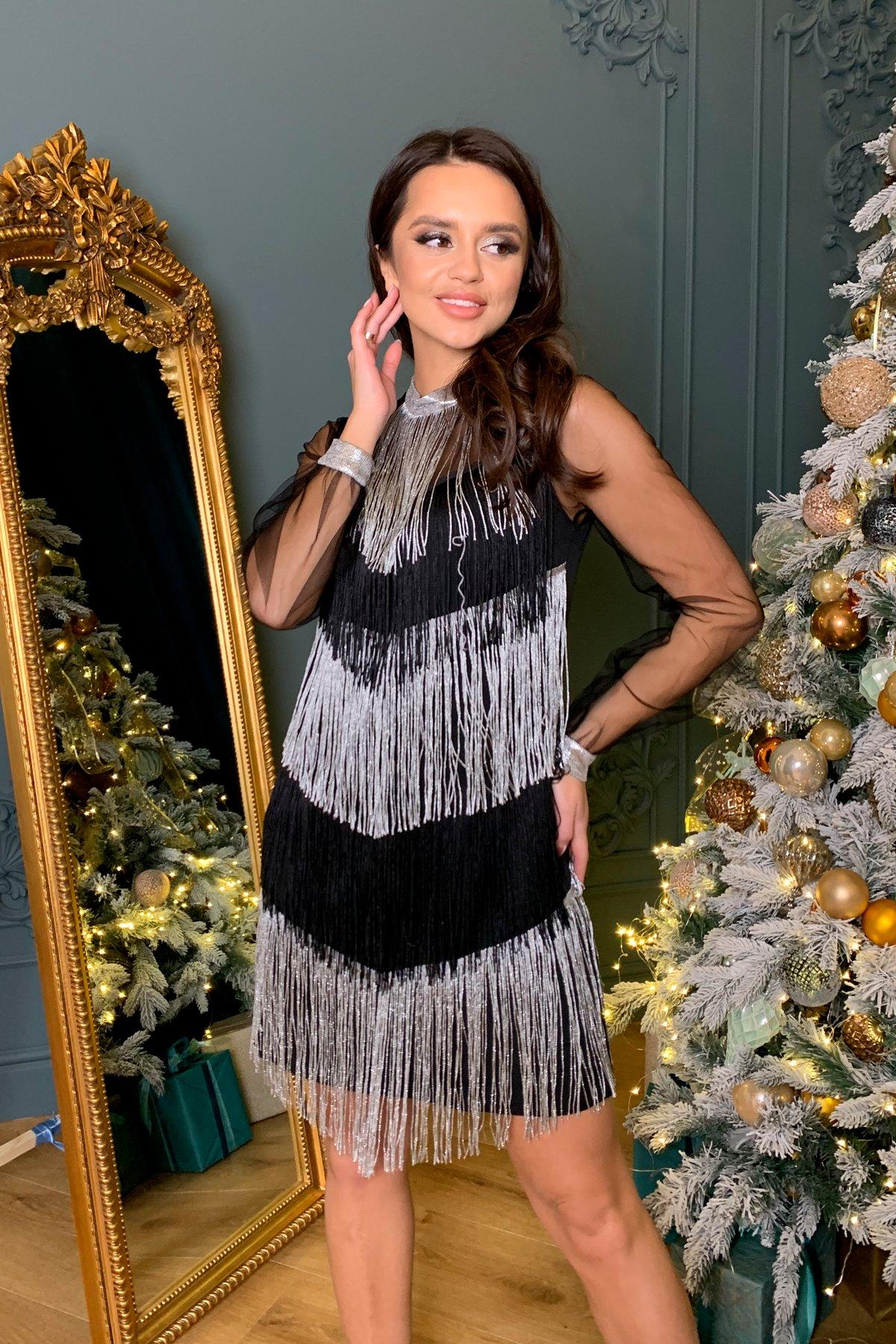 Вечернее платье Софит 8629 АРТ. 44943 Цвет: Черный - фото 5, интернет магазин tm-modus.ru