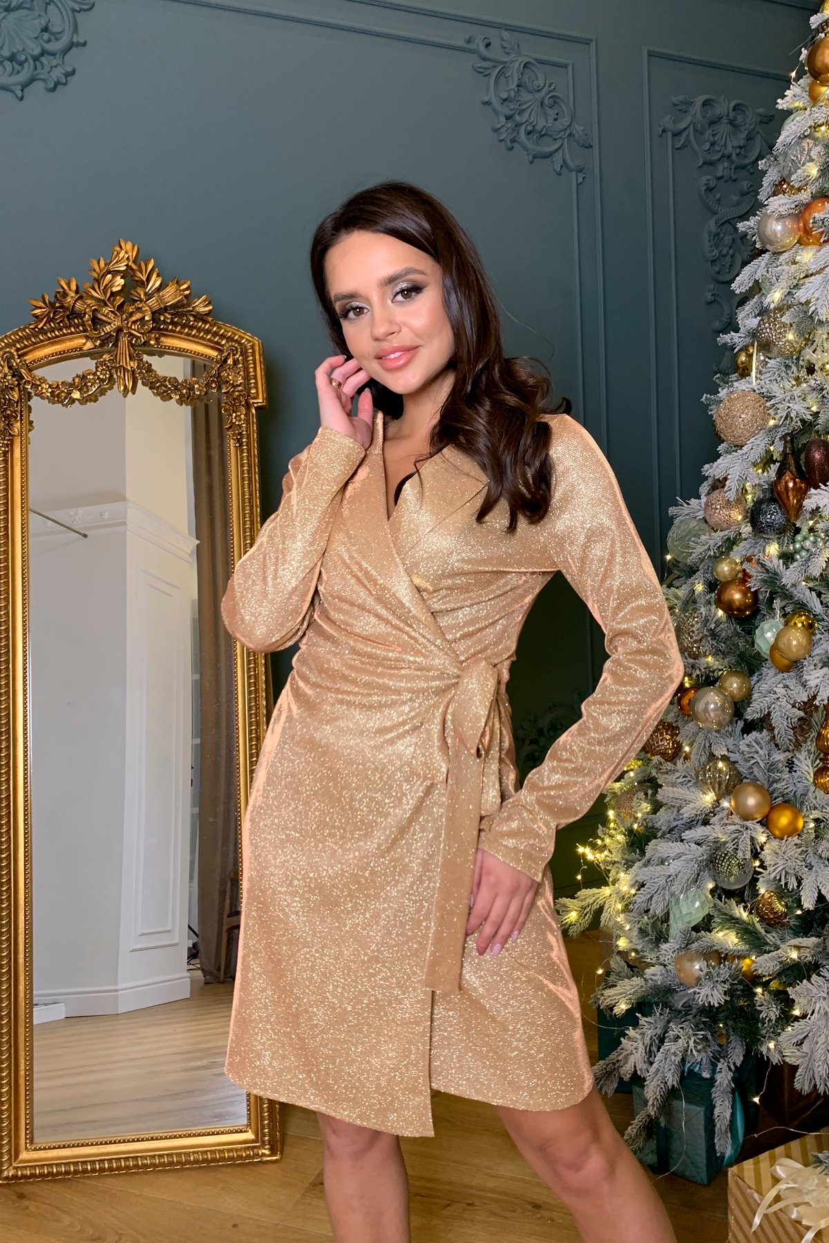 Платье Шати 8686 АРТ. 45014 Цвет: Золото/розовый - фото 1, интернет магазин tm-modus.ru