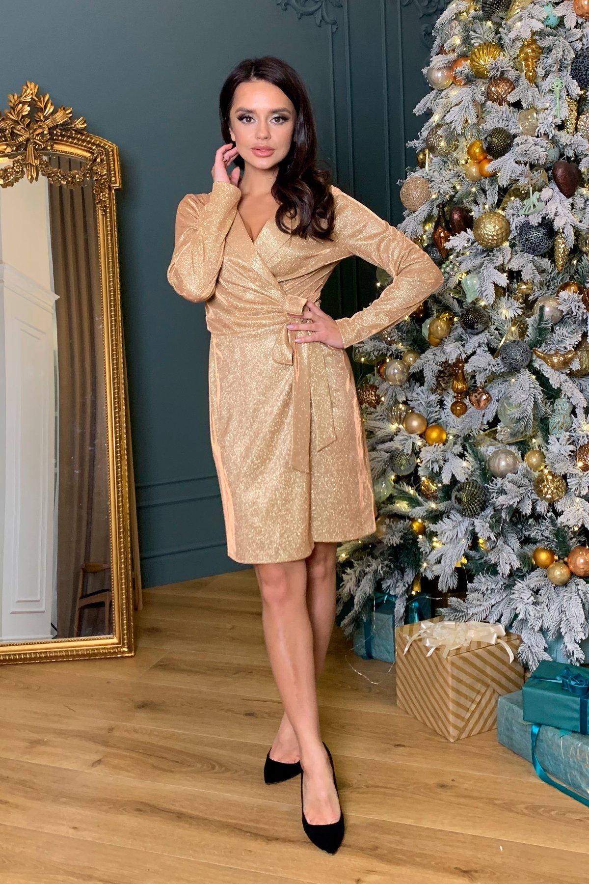 Платье Шати 8686 АРТ. 45014 Цвет: Золото/розовый - фото 6, интернет магазин tm-modus.ru
