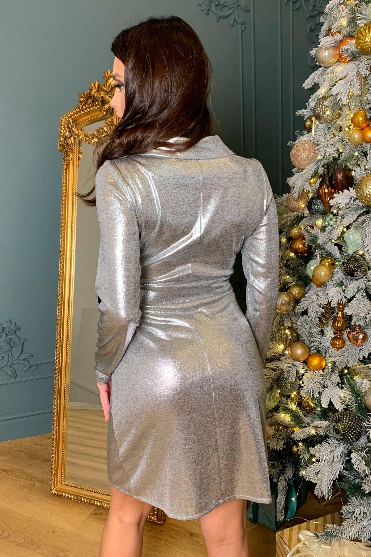 Платье на запах с отложным воротником Шати 8526 АРТ. 45013 Цвет: Серый/серебро - фото 3, интернет магазин tm-modus.ru