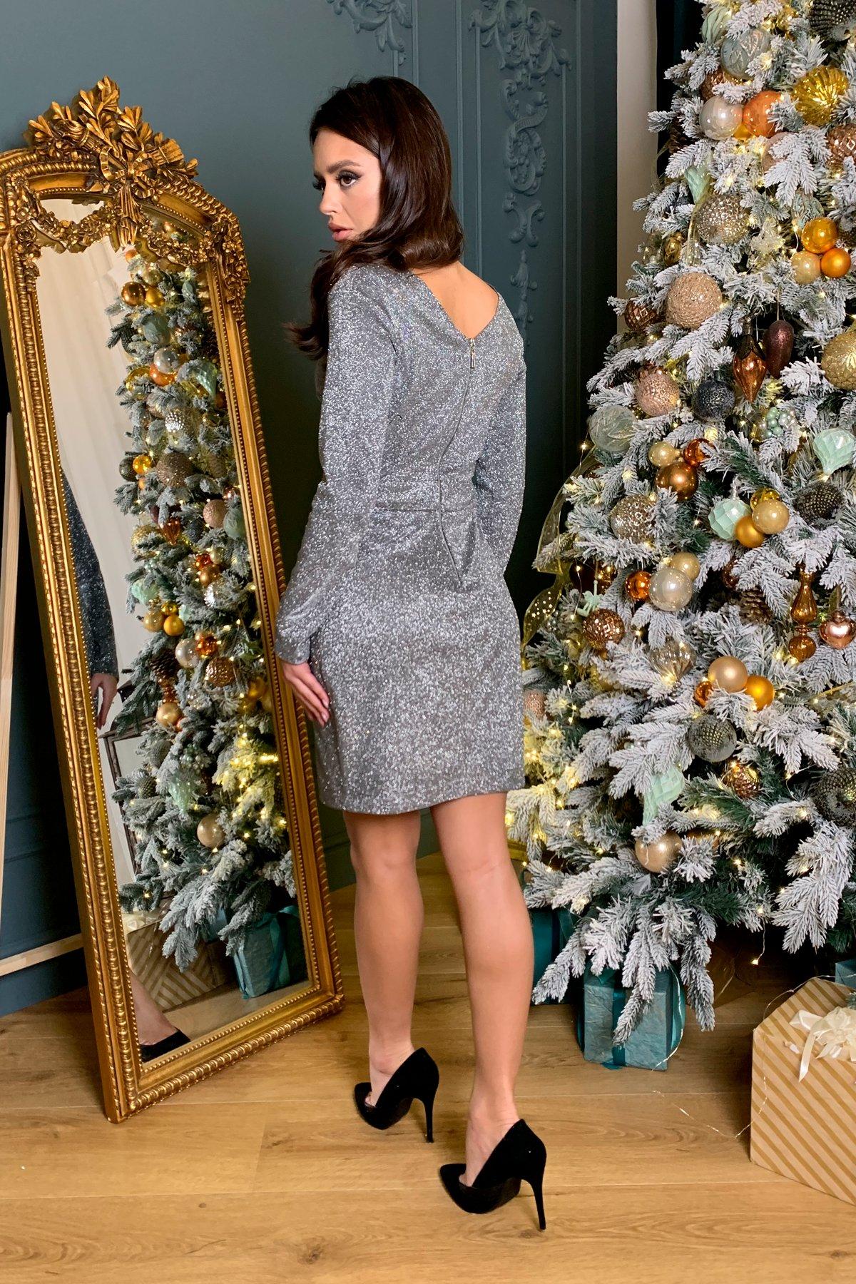 Коктейльное платье Кристал 8346 АРТ. 45027 Цвет: Графит/серебро - фото 2, интернет магазин tm-modus.ru