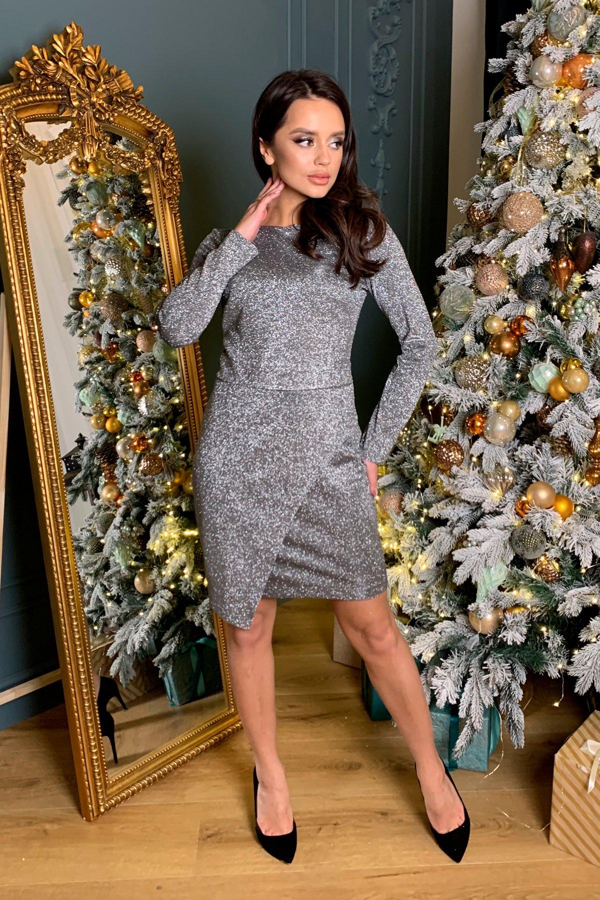 Коктейльное платье Кристал 8346 АРТ. 45027 Цвет: Графит/серебро - фото 4, интернет магазин tm-modus.ru