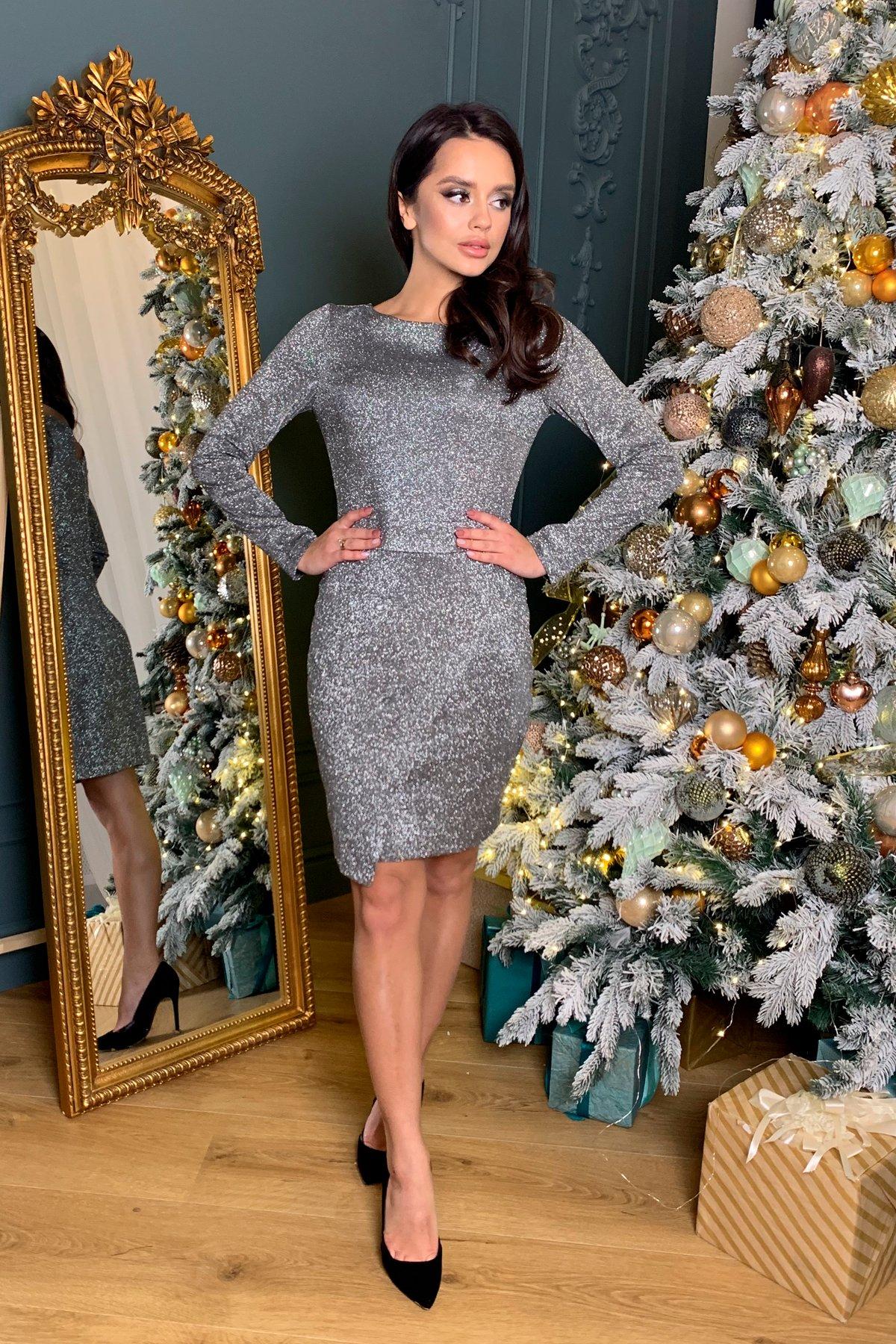 Коктейльное платье Кристал 8346 АРТ. 45027 Цвет: Графит/серебро - фото 6, интернет магазин tm-modus.ru