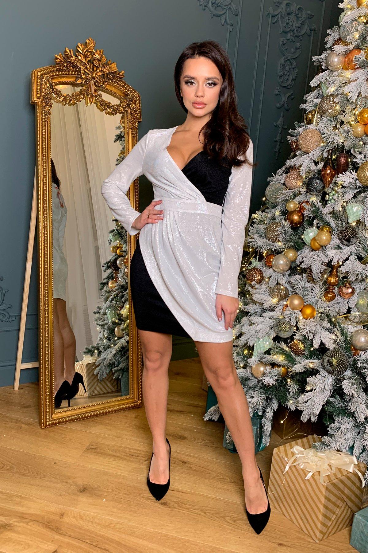 Купить платье в Украине Modus Контрастное двухцветное платье Блеск 8670