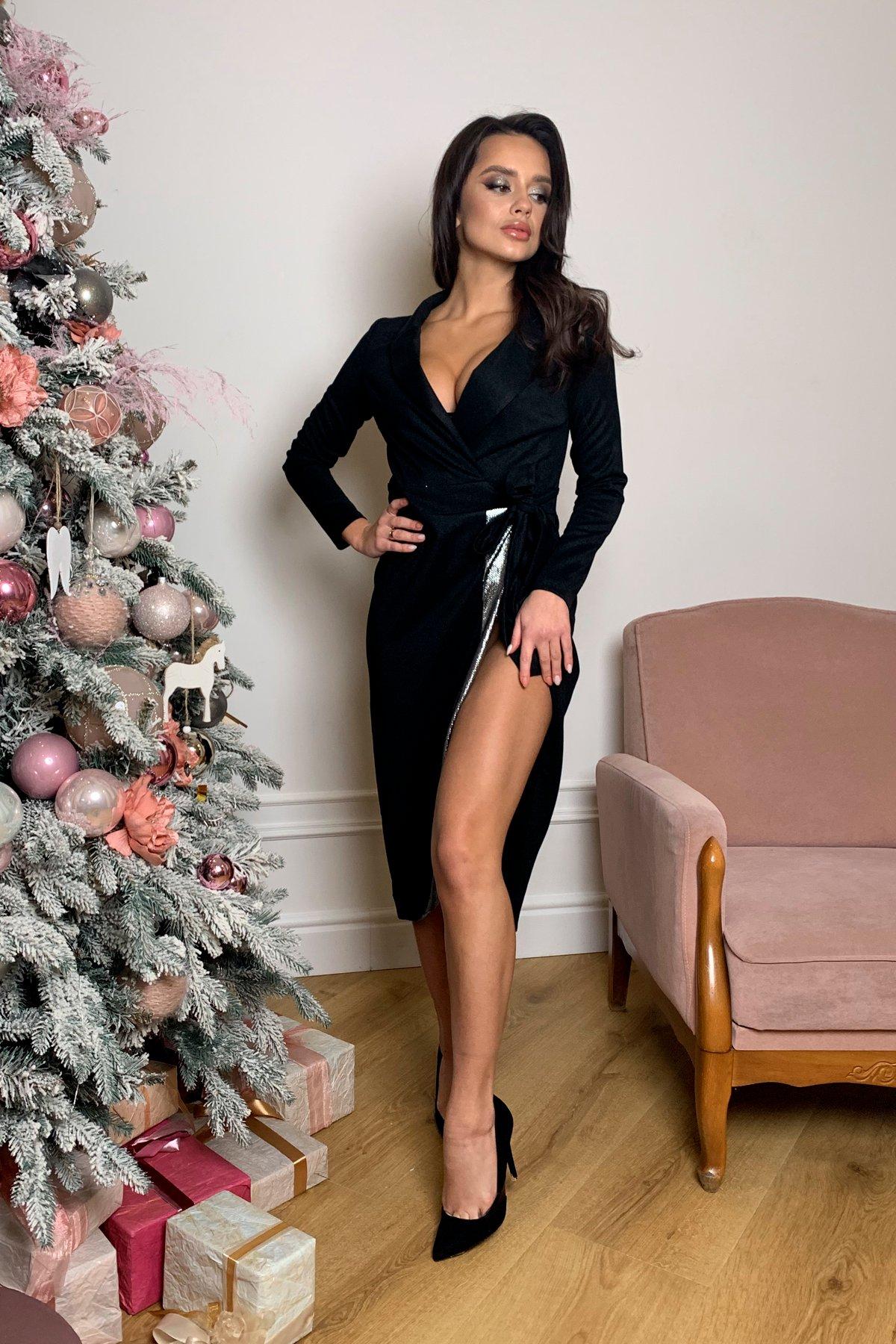 Платье Питта 8507 АРТ. 44799 Цвет: Черный - фото 2, интернет магазин tm-modus.ru