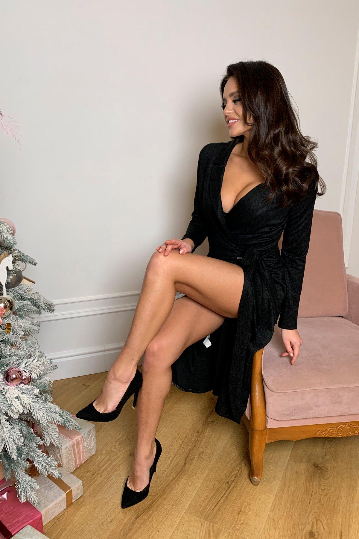 Платье Питта 8507 АРТ. 44799 Цвет: Черный - фото 3, интернет магазин tm-modus.ru