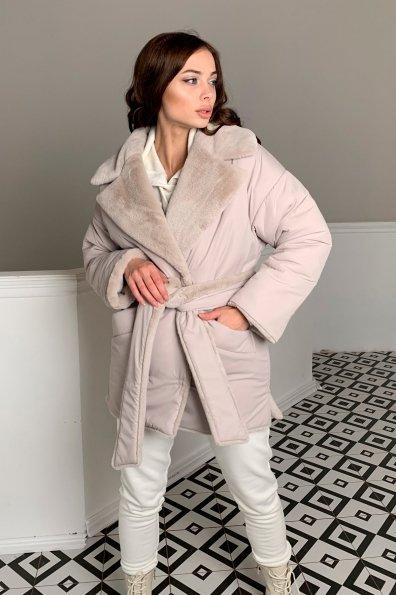Купить Вандер пальто мех искуственный кролик зима  10120 оптом и в розницу