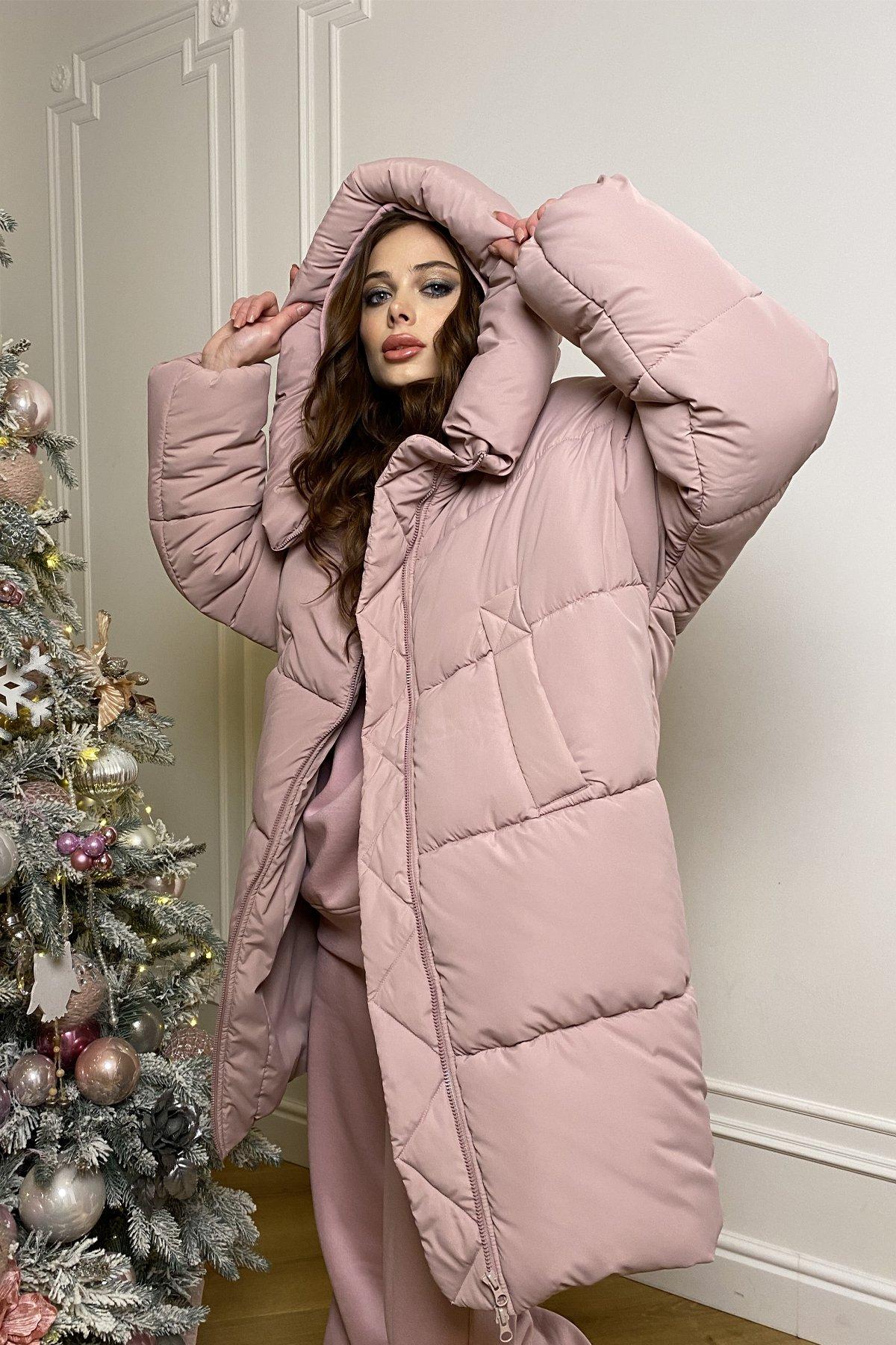 куртки оптом Украина  Френд  теплый пуховик из плащевой ткани 10101