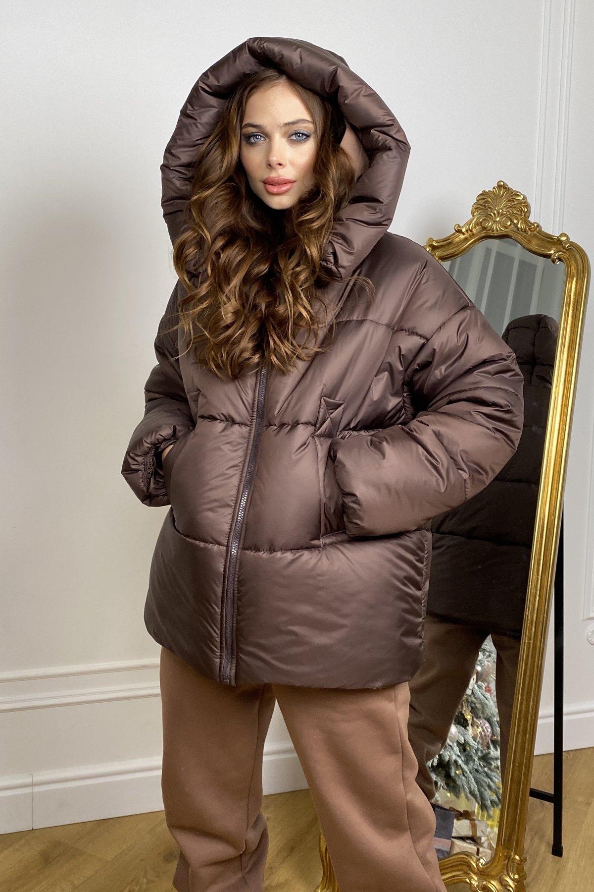 женские куртки оптом  Овертайм  теплый пуховик из матовой плащевой ткани 10245