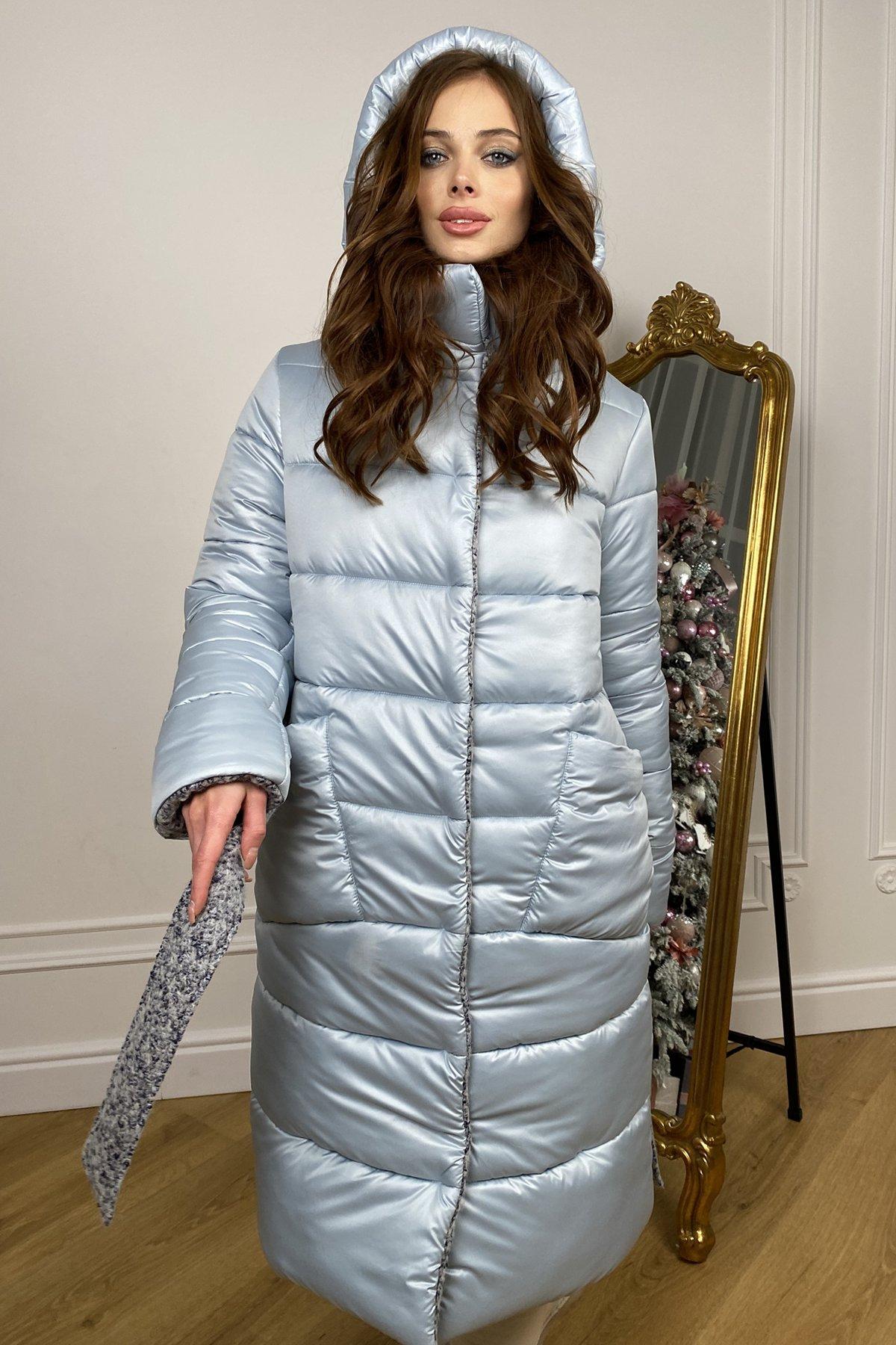 Бристоль плащевка стеганое пальто зима 10099 АРТ. 46407 Цвет: голубой/серый/голубой - фото 6, интернет магазин tm-modus.ru