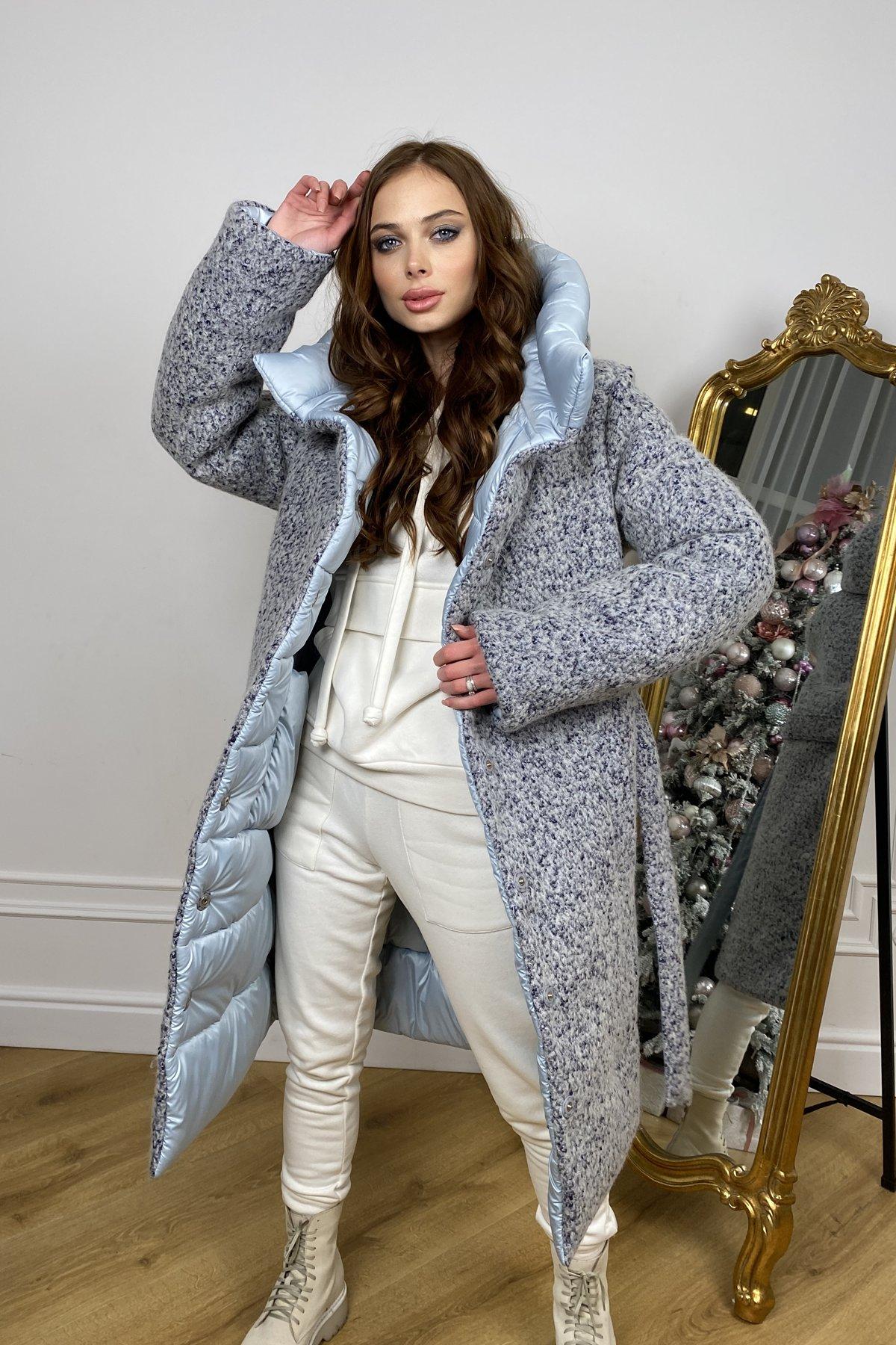 Бристоль плащевка стеганое пальто зима 10099 АРТ. 46407 Цвет: голубой/серый/голубой - фото 10, интернет магазин tm-modus.ru