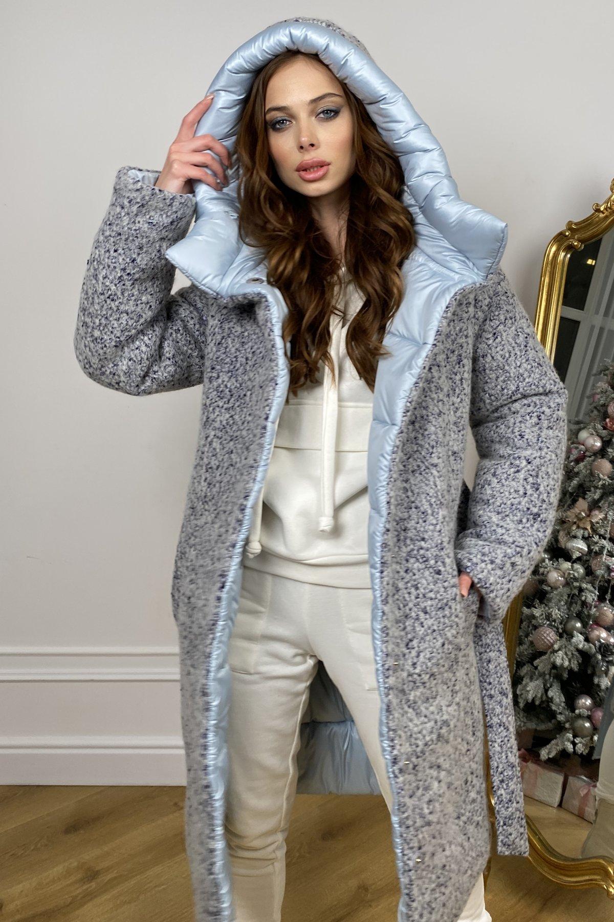 Бристоль плащевка стеганое пальто зима 10099 АРТ. 46407 Цвет: голубой/серый/голубой - фото 11, интернет магазин tm-modus.ru