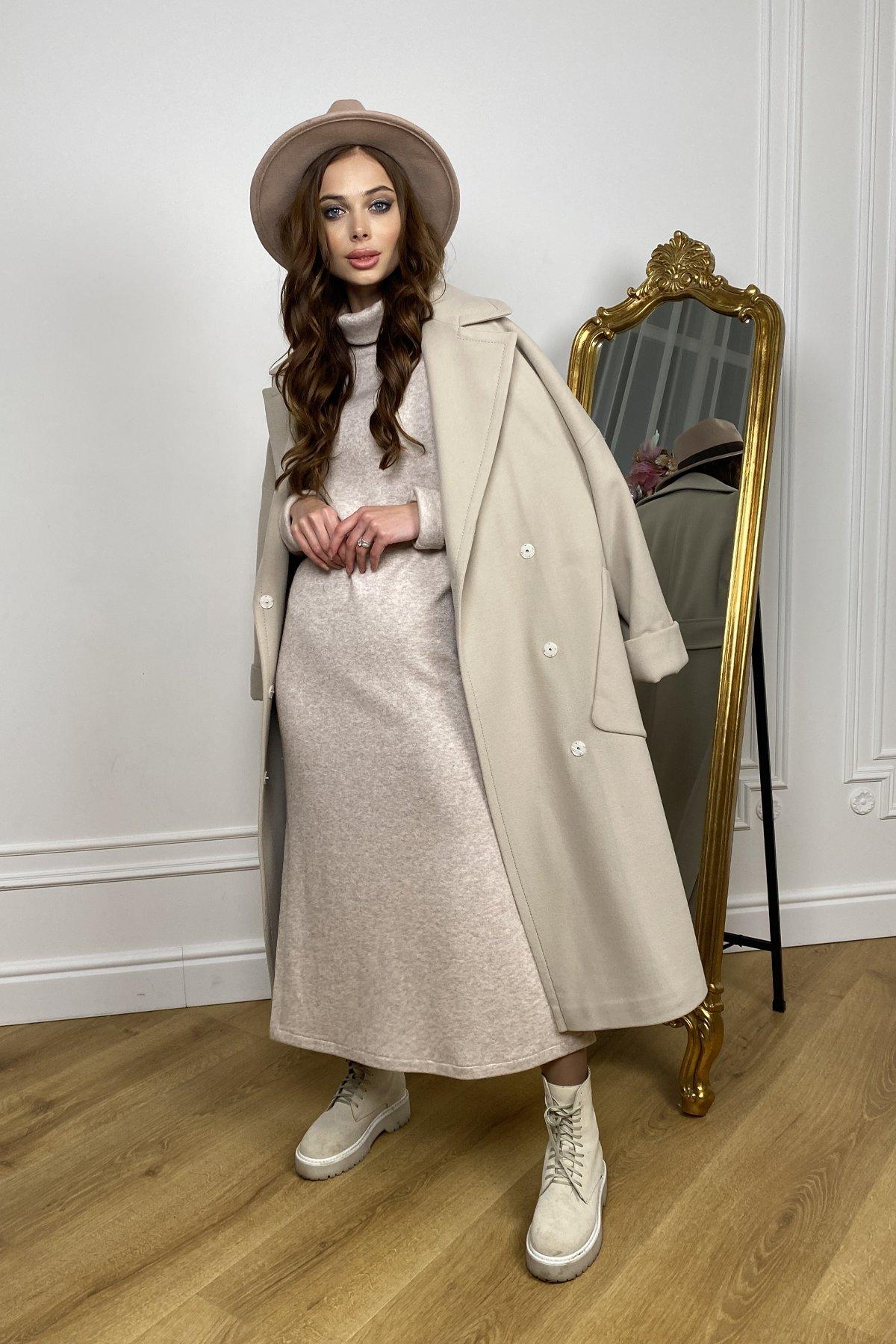Кейт  зимнее пальто  из кашемира с хомутом 10097 АРТ. 46406 Цвет: Бежевый - фото 1, интернет магазин tm-modus.ru