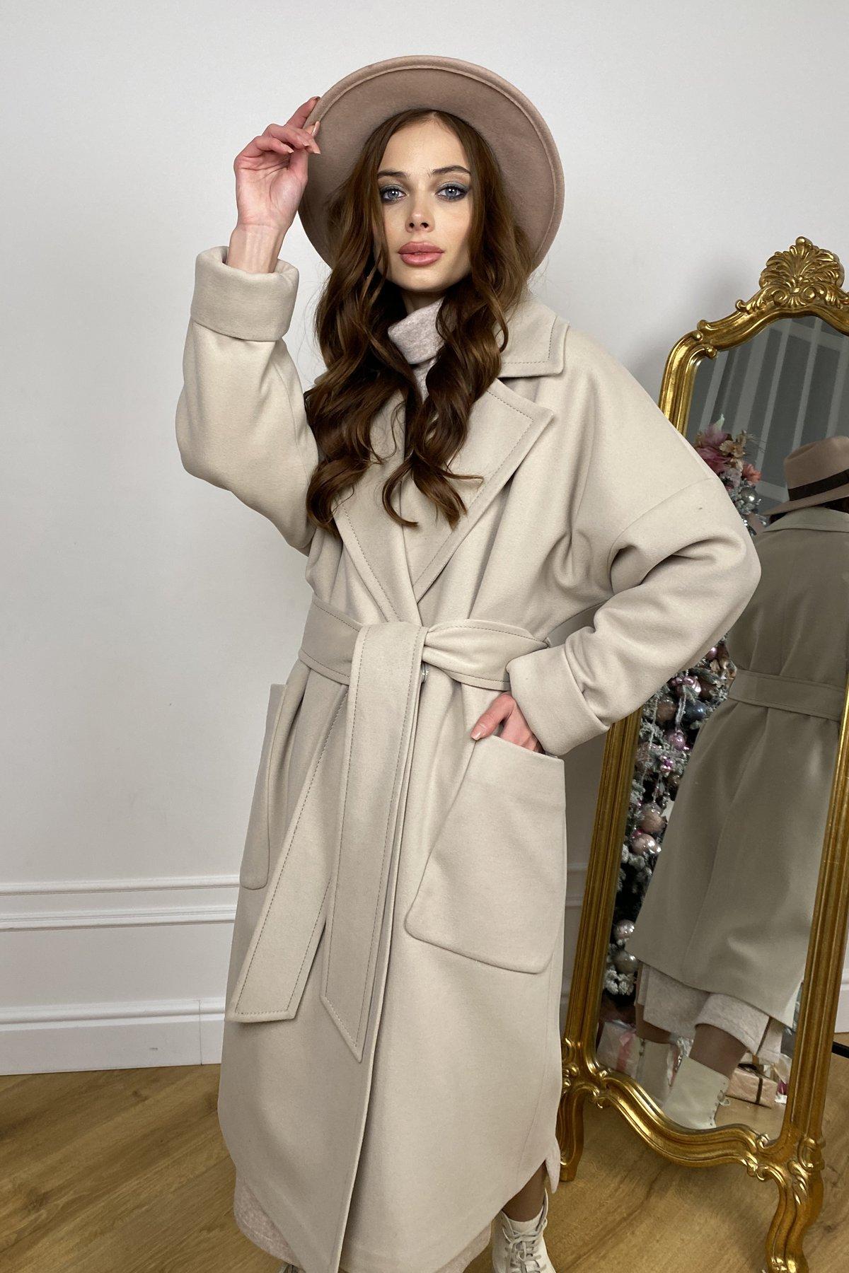 Кейт  зимнее пальто  из кашемира с хомутом 10097 АРТ. 46406 Цвет: Бежевый - фото 2, интернет магазин tm-modus.ru
