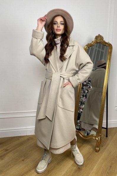 """Купить """" Кейт """" зимнее пальто  из кашемира с хомутом 10097 оптом и в розницу"""