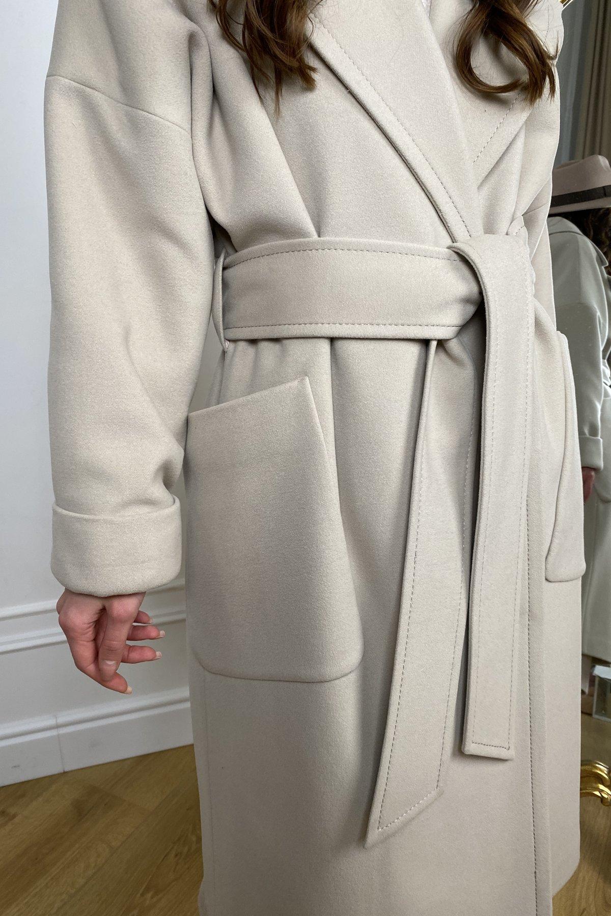 Кейт  зимнее пальто  из кашемира с хомутом 10097 АРТ. 46406 Цвет: Бежевый - фото 4, интернет магазин tm-modus.ru