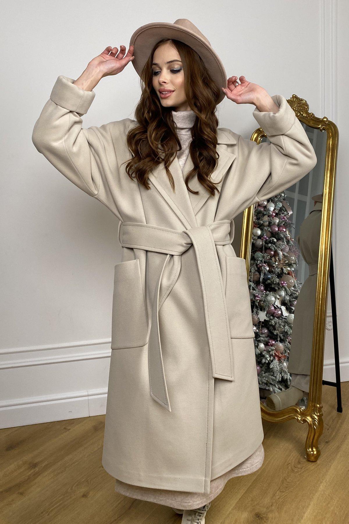Кейт  зимнее пальто  из кашемира с хомутом 10097 АРТ. 46406 Цвет: Бежевый - фото 5, интернет магазин tm-modus.ru