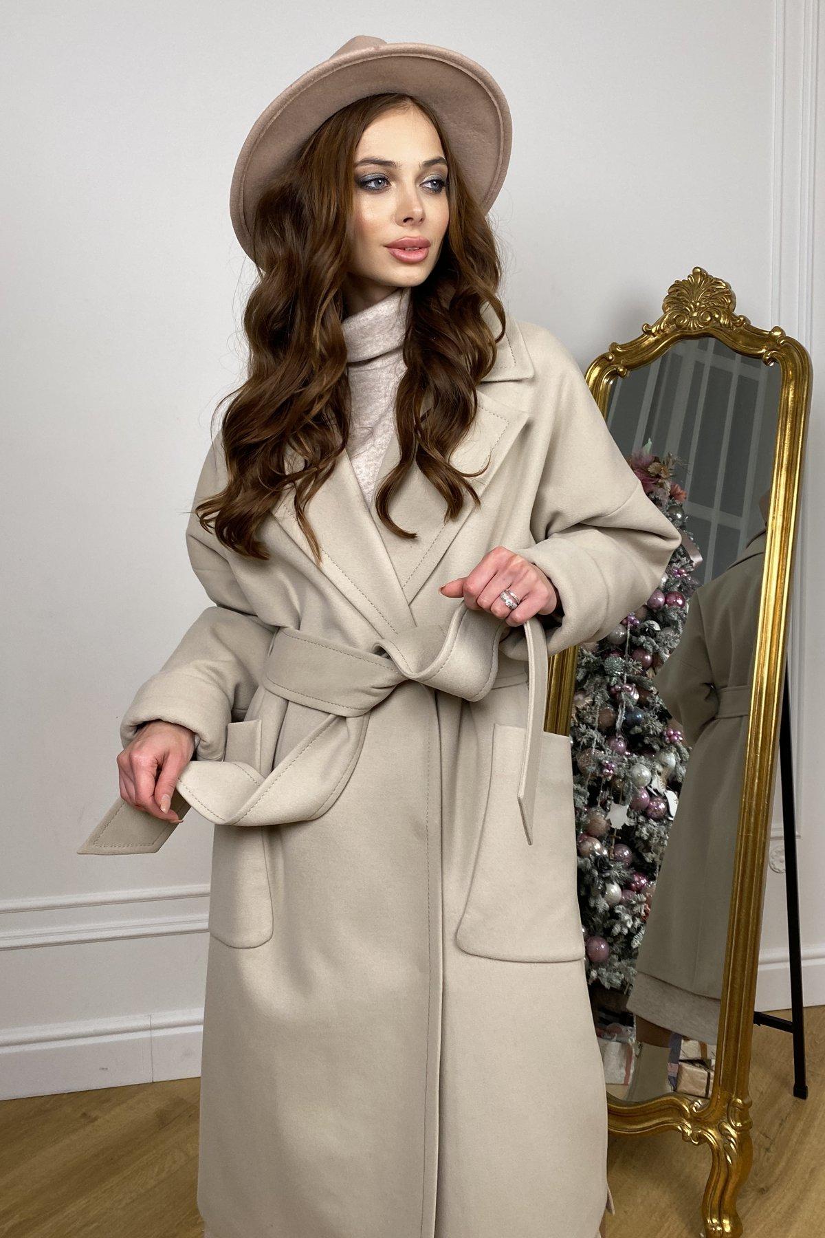 Кейт  зимнее пальто  из кашемира с хомутом 10097 АРТ. 46406 Цвет: Бежевый - фото 6, интернет магазин tm-modus.ru