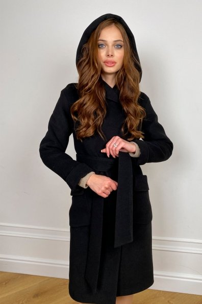 Пальто зима Анджи 5821 Цвет: Черный