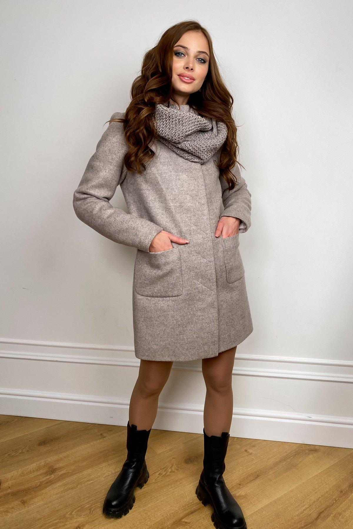 Пальто зима с хомутом Мелини 5644 АРТ. 38206 Цвет: Бежевый 31 - фото 4, интернет магазин tm-modus.ru