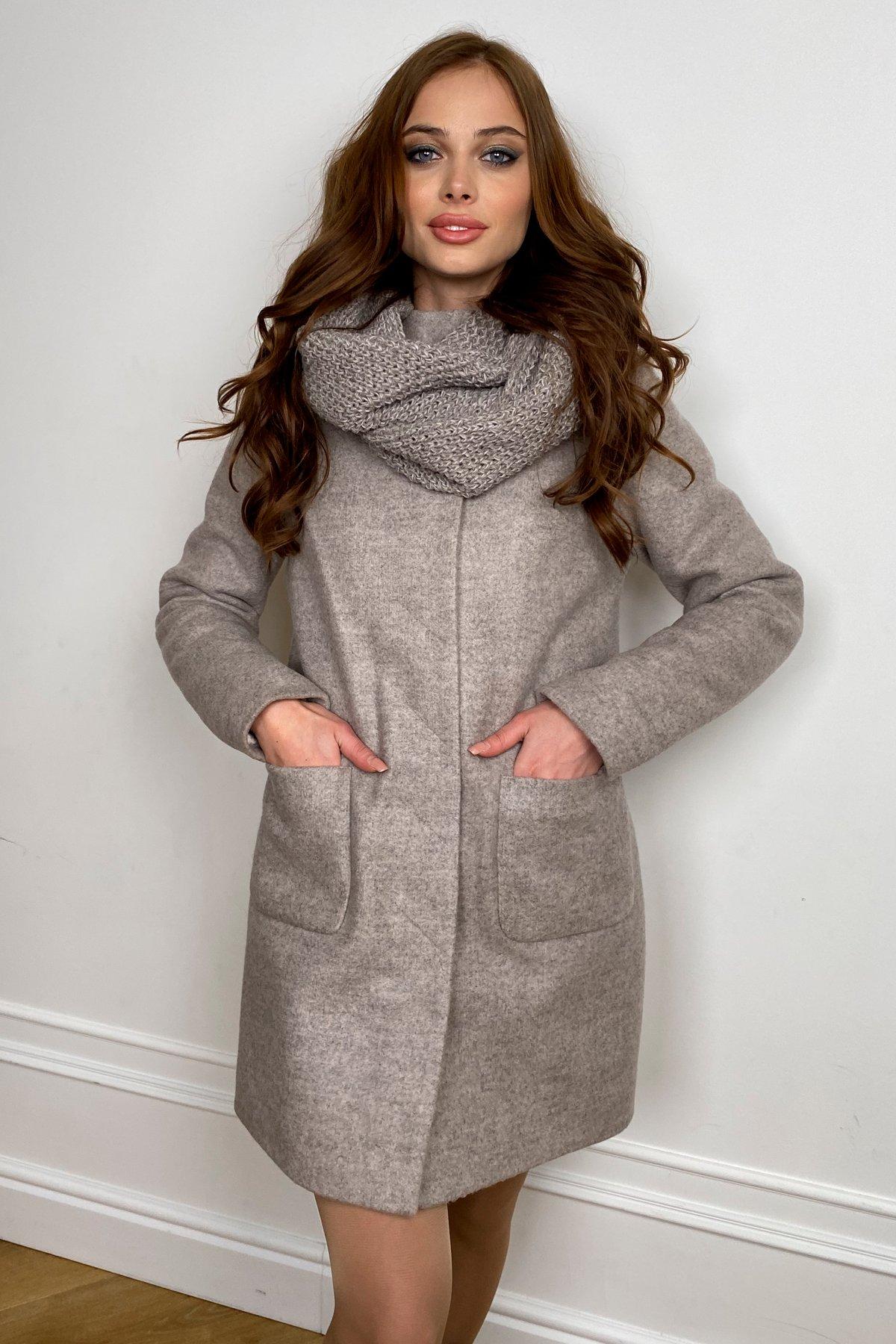 Пальто зима с хомутом Мелини 5644 АРТ. 38206 Цвет: Бежевый 31 - фото 5, интернет магазин tm-modus.ru