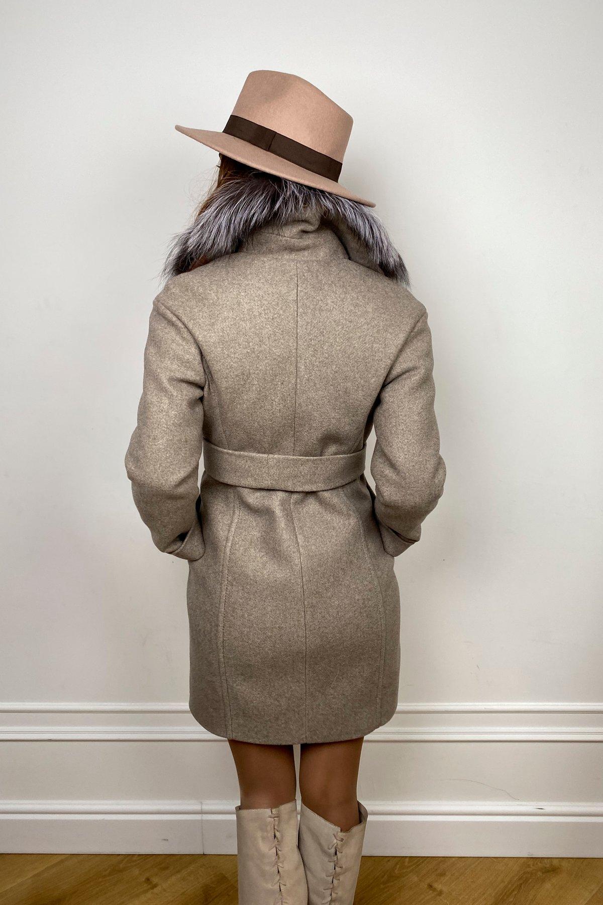 Пальто зима Приора 5668 АРТ. 37883 Цвет: Бежевый 10 - фото 2, интернет магазин tm-modus.ru