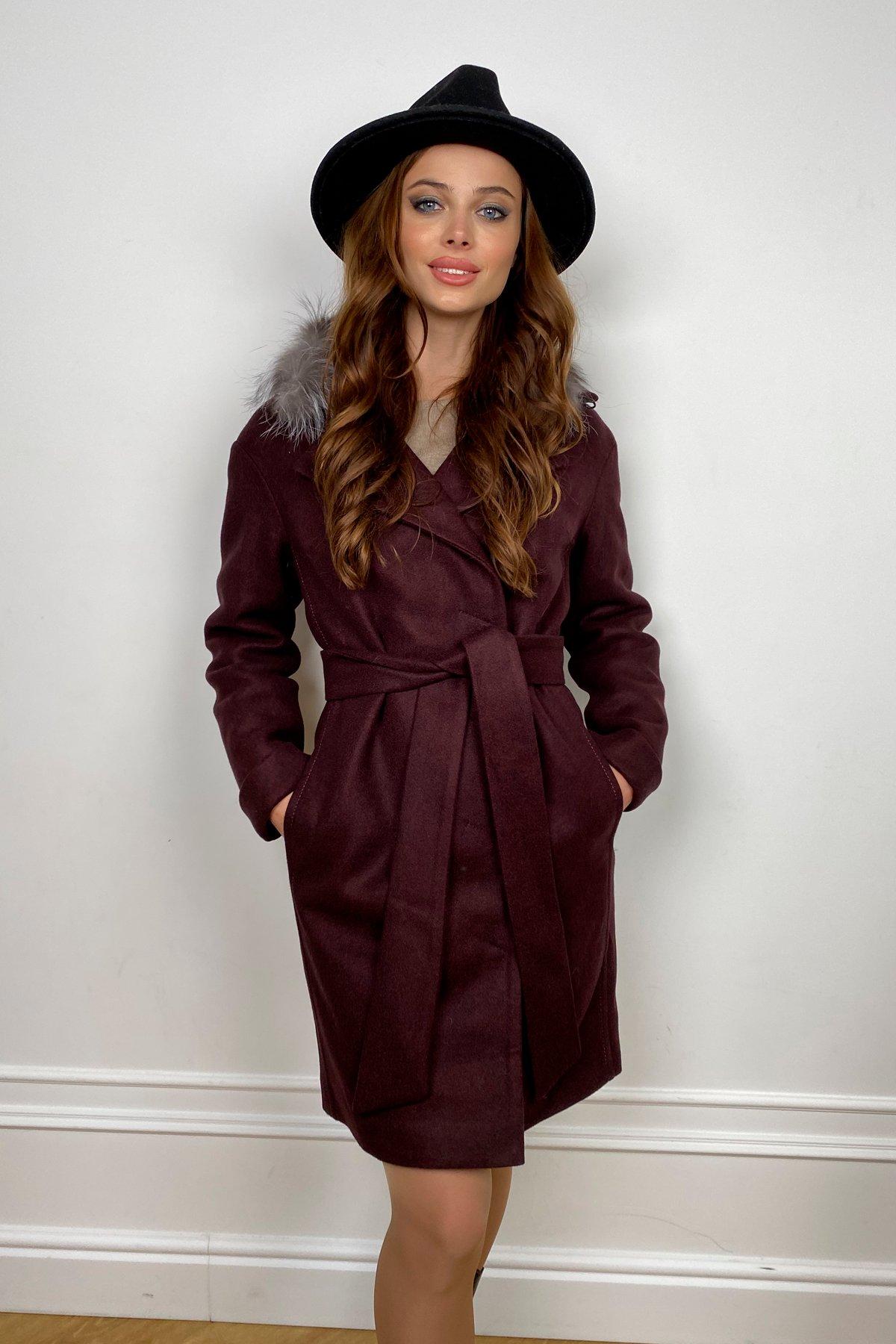 Пальто зима Приора 5668 АРТ. 37884 Цвет: Марсала 75 - фото 1, интернет магазин tm-modus.ru
