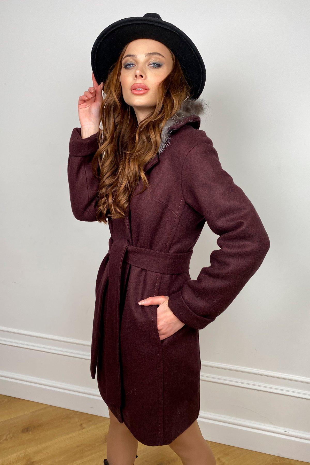 Пальто зима Приора 5668 Цвет: Марсала 75