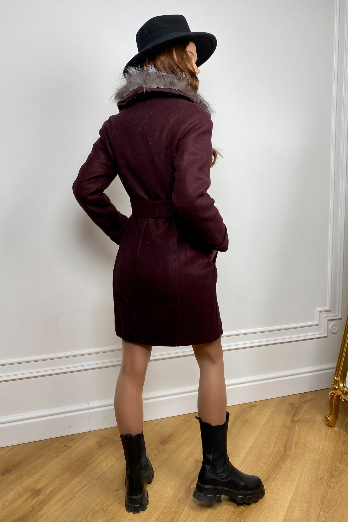 Пальто зима Приора 5668 АРТ. 37884 Цвет: Марсала 75 - фото 6, интернет магазин tm-modus.ru