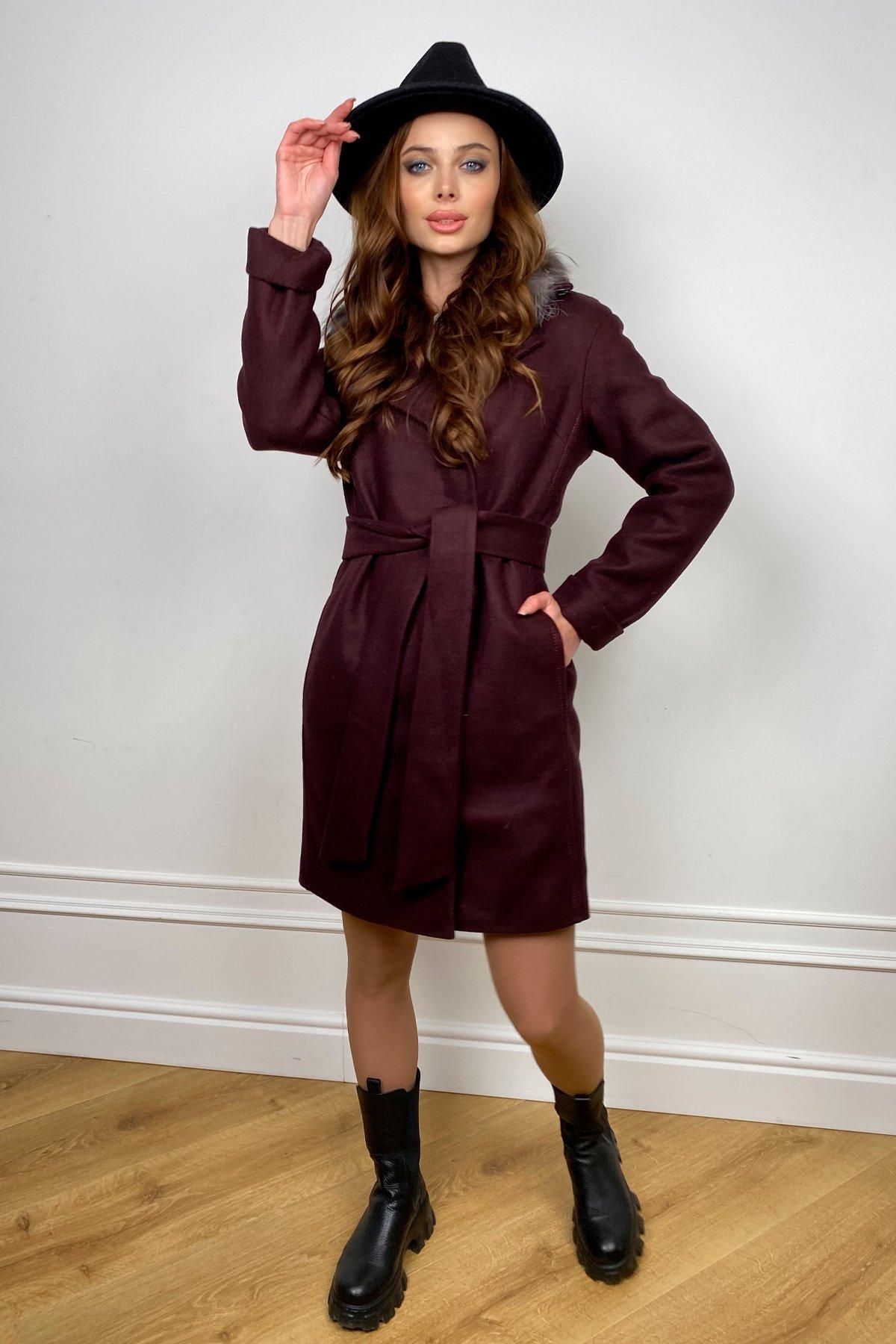 Пальто зима Приора 5668 АРТ. 37884 Цвет: Марсала 75 - фото 7, интернет магазин tm-modus.ru