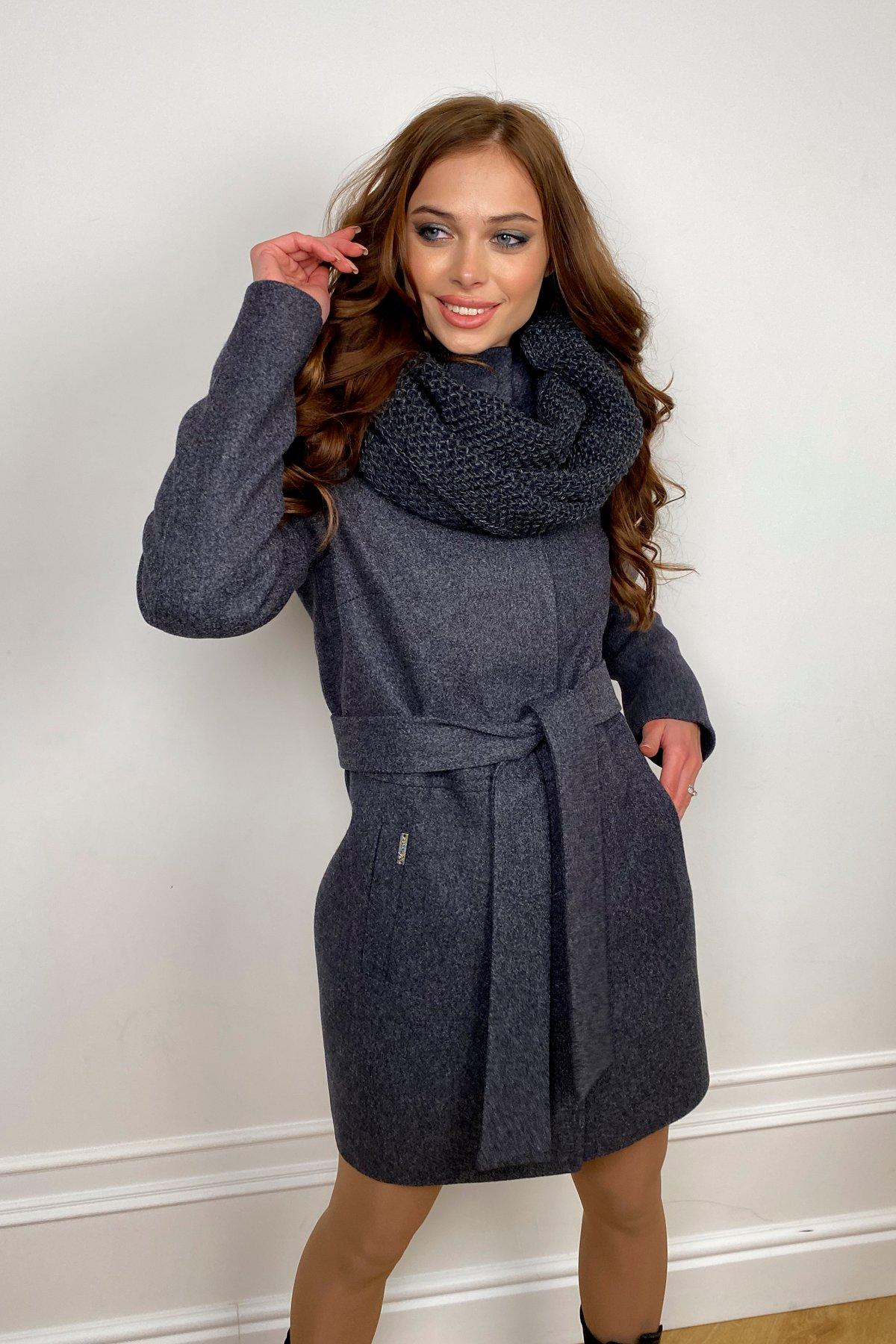 Пальто женское зимнее Габи 8295 с шарфом-трубой АРТ. 44407 Цвет: т. синий 543 - фото 2, интернет магазин tm-modus.ru