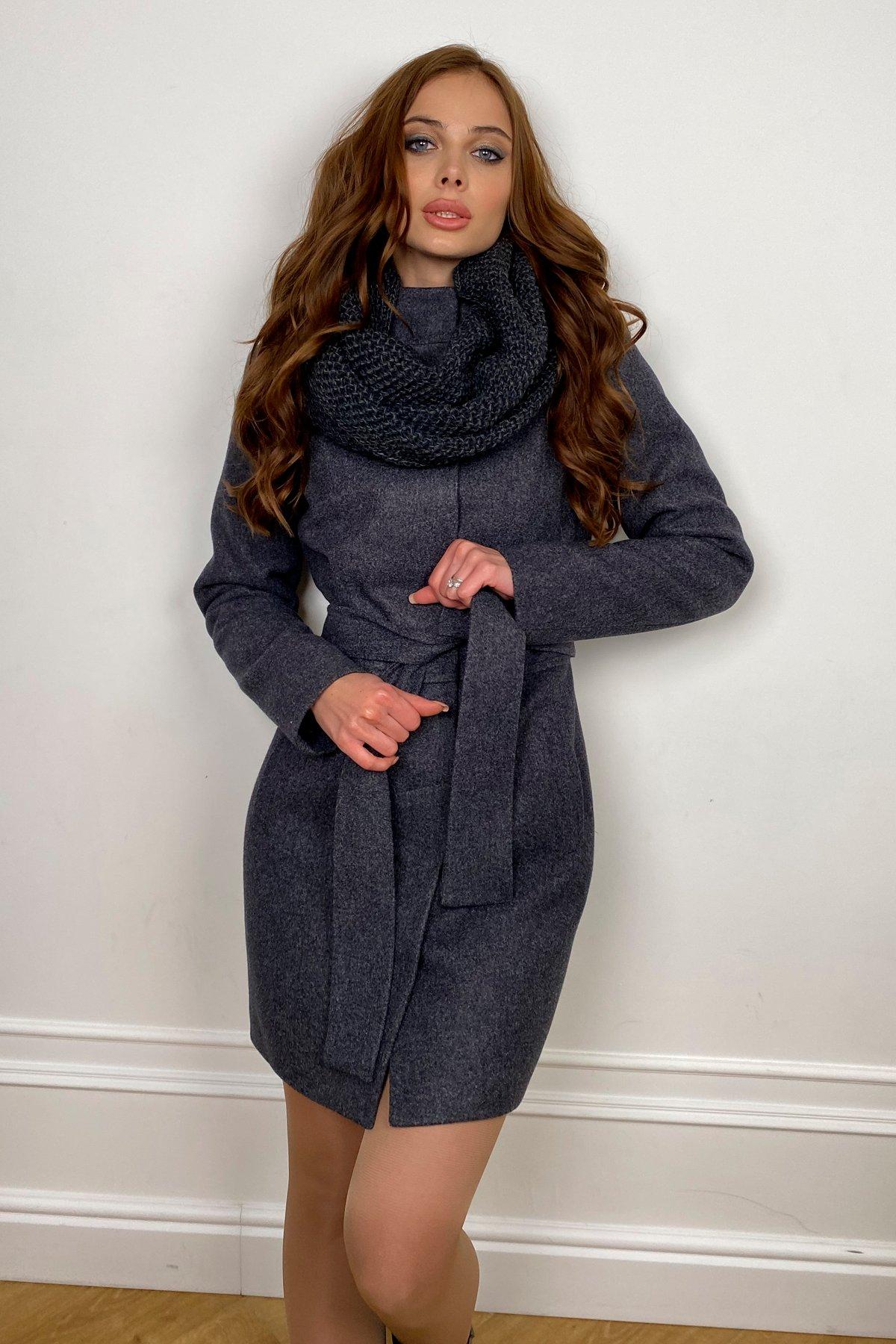 Пальто женское зимнее Габи 8295 с шарфом-трубой АРТ. 44407 Цвет: т. синий 543 - фото 3, интернет магазин tm-modus.ru