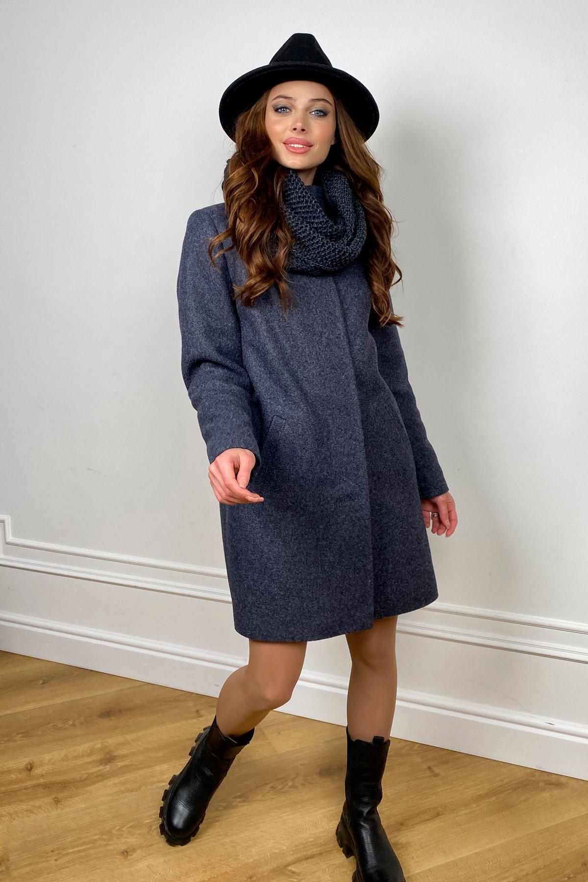 Зимнее пальто с воротником стойка Фортуна лайт 5804 АРТ. 44304 Цвет: т. синий 543 - фото 2, интернет магазин tm-modus.ru