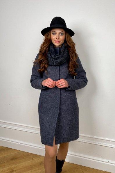 Зимнее пальто с воротником стойка Фортуна лайт 5804 Цвет: т. синий 543