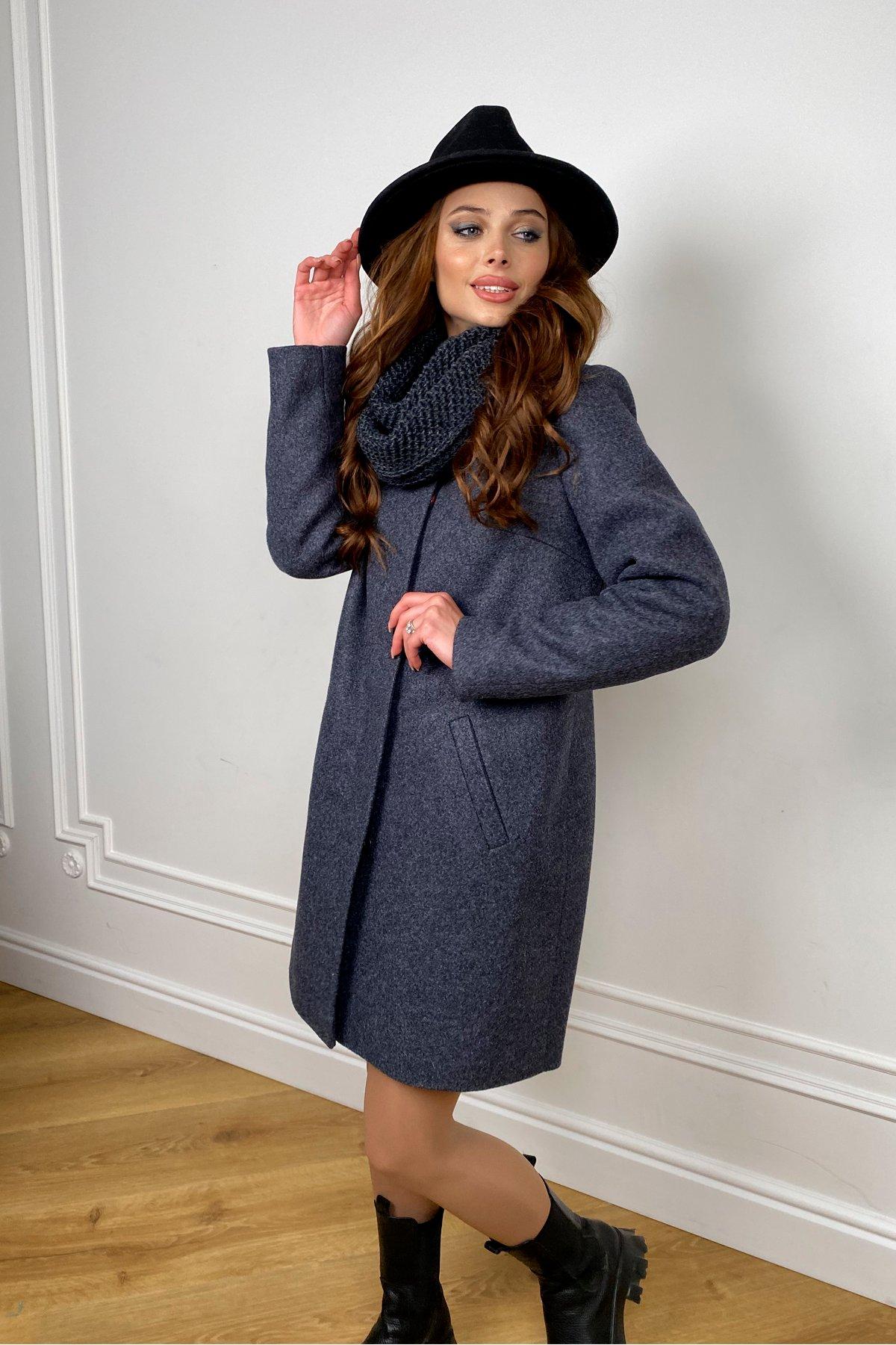 Зимнее пальто с воротником стойка Фортуна лайт 5804 АРТ. 44304 Цвет: т. синий 543 - фото 4, интернет магазин tm-modus.ru