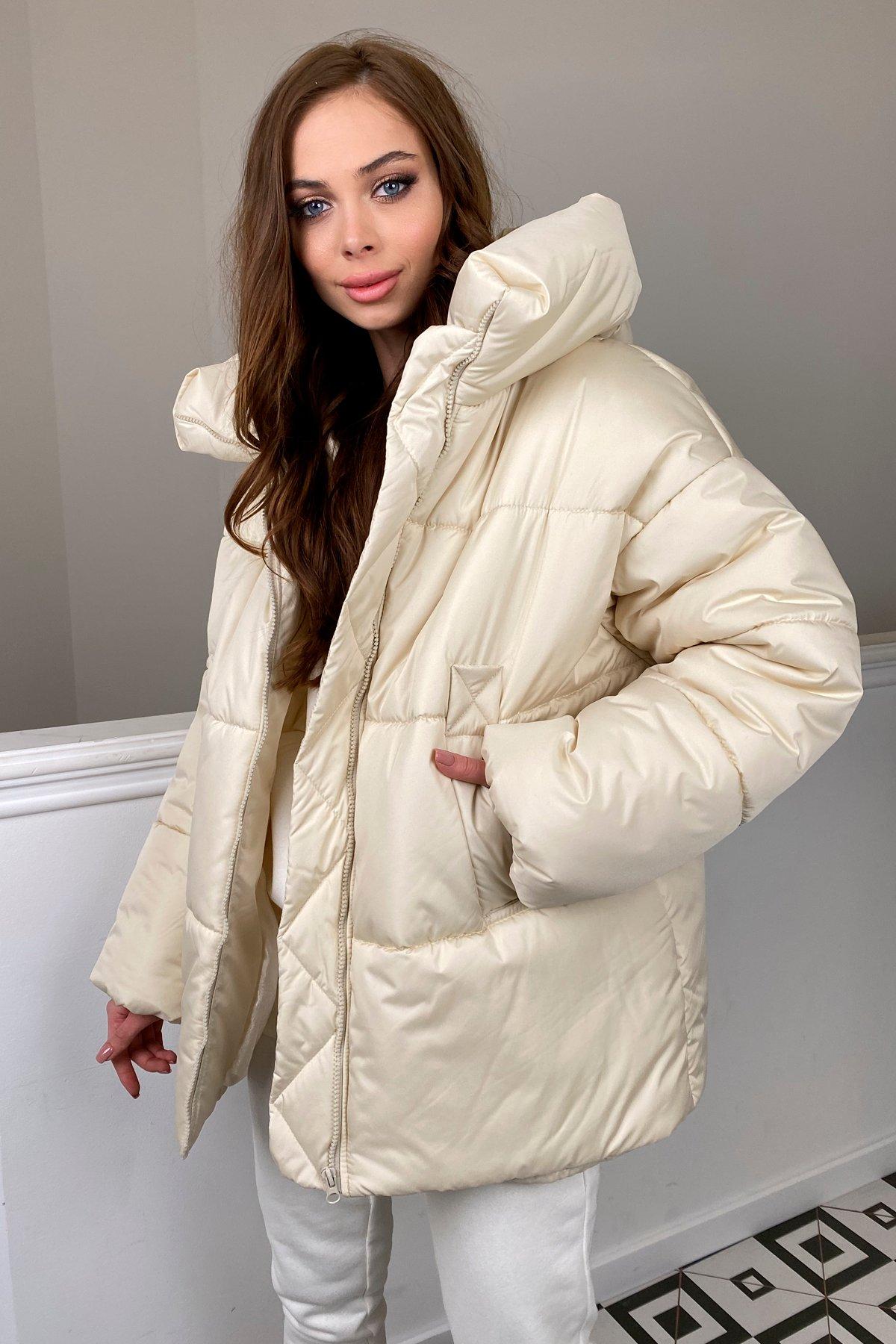 куртки оптом от производителя   Овертайм  теплый пуховик из матовой плащевой ткани 10245