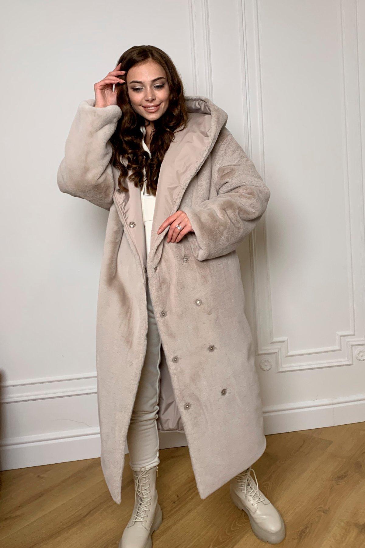 Сноу  теплое двухстороннее пальто из  еко меха и плотной  плащевки 9956 АРТ. 46668 Цвет: Св.серый/бежевый511 - фото 6, интернет магазин tm-modus.ru