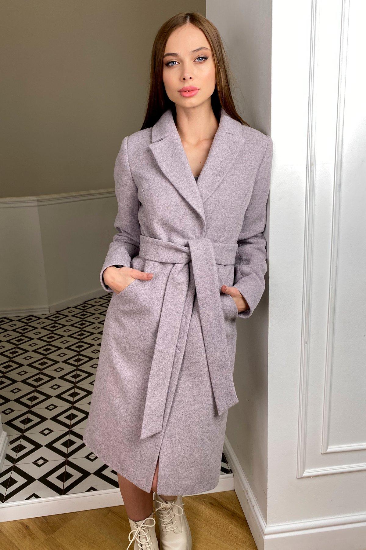 Пальто зима Мехико 8273 АРТ. 44381 Цвет: Серо-розовый 46 - фото 1, интернет магазин tm-modus.ru
