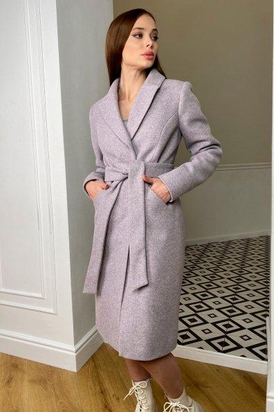 Пальто зима Мехико 8273 Цвет: Серо-розовый 46