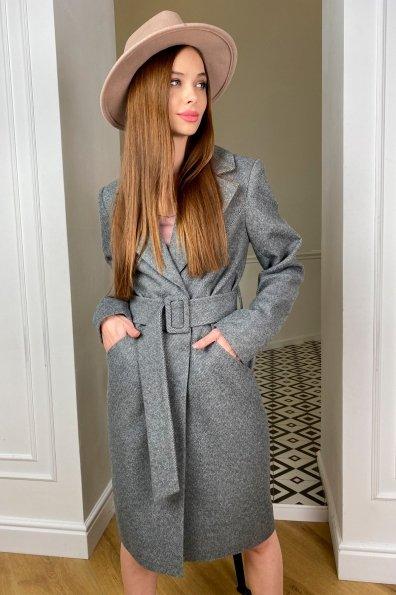 """Купить """"Кареро"""" пальто с поясом из  пальтовой ткани  7961 оптом и в розницу"""