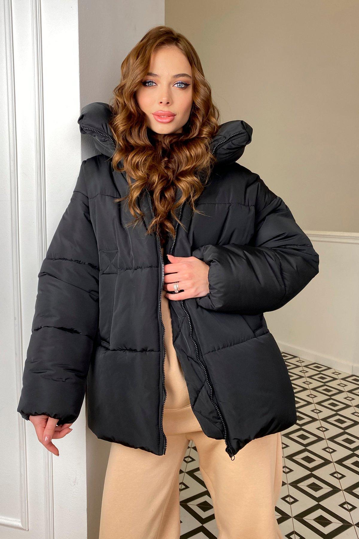 куртки демисезонные женские Харьков  Овертайм  теплый пуховик из матовой плащевой ткани 10245